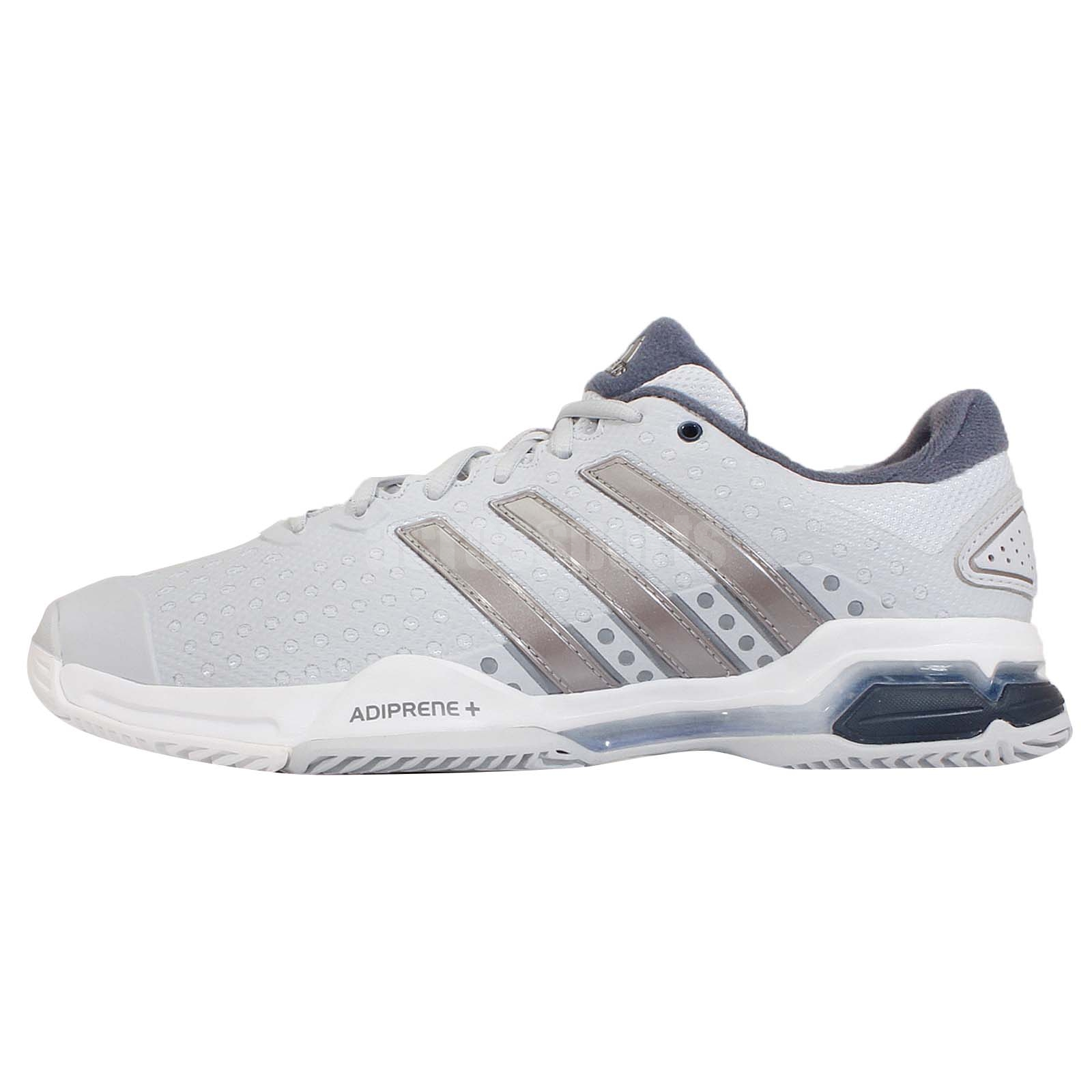f12c7469f434 ... tom tom accessoires - Adidas Barricade Team 4 Grey Silver White adiPRENE  Mens Tennis . ...