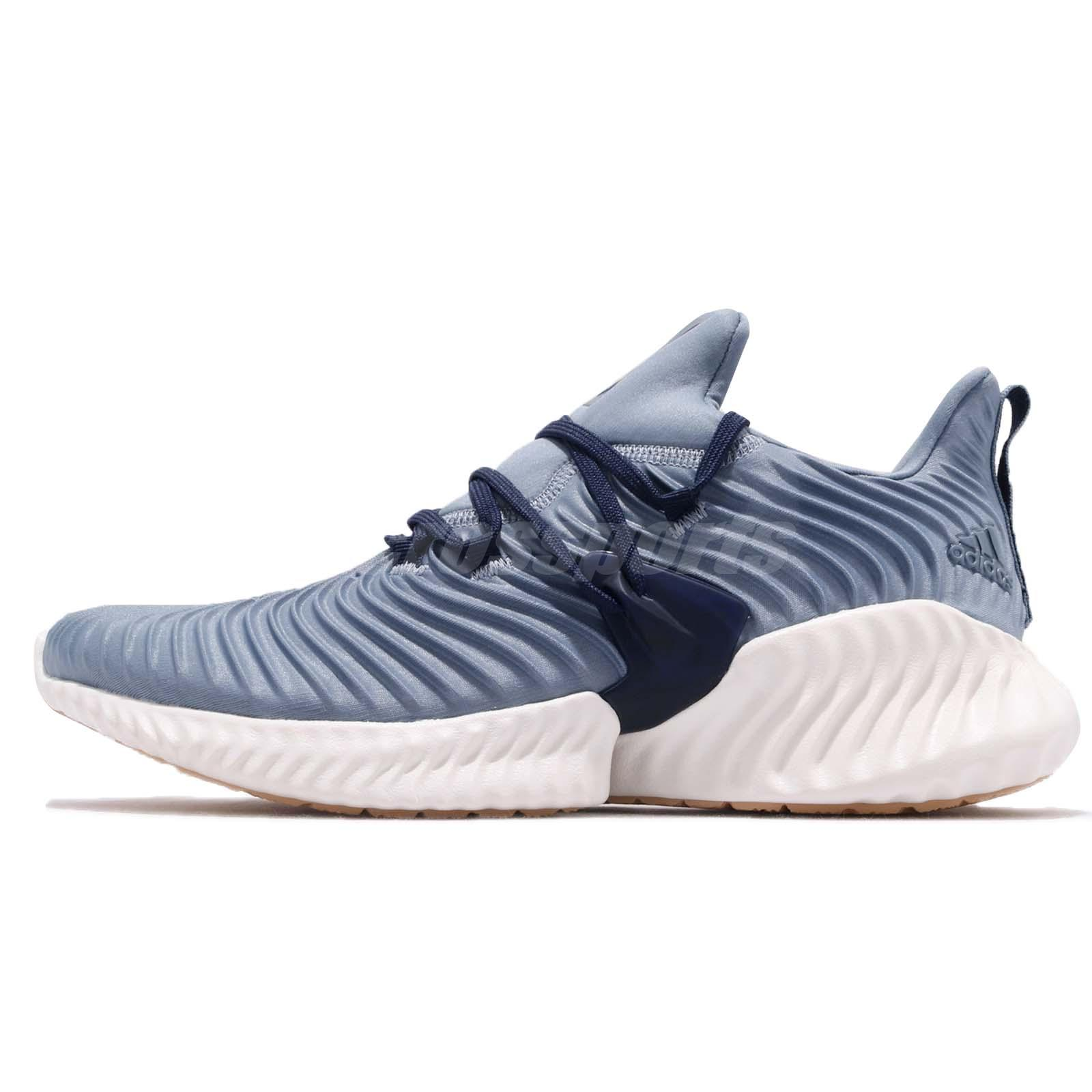 buy online 4e859 77526 Details about adidas Alphabounce Instinct M Raw Grey Blue Mens Running  Shoes BOUNCE B27817
