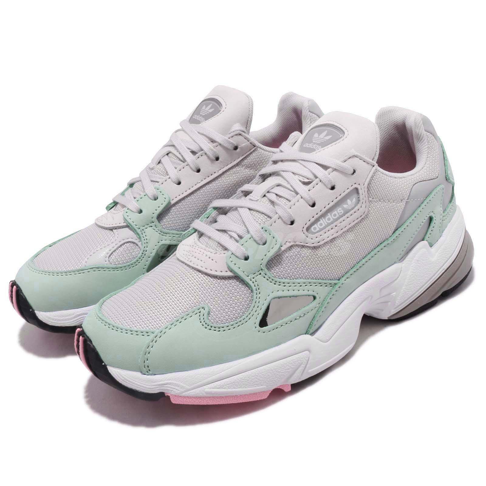Details about adidas Originals Falcon W Grey Green White Women Running  Chunky Shoes B28127 8e5886454