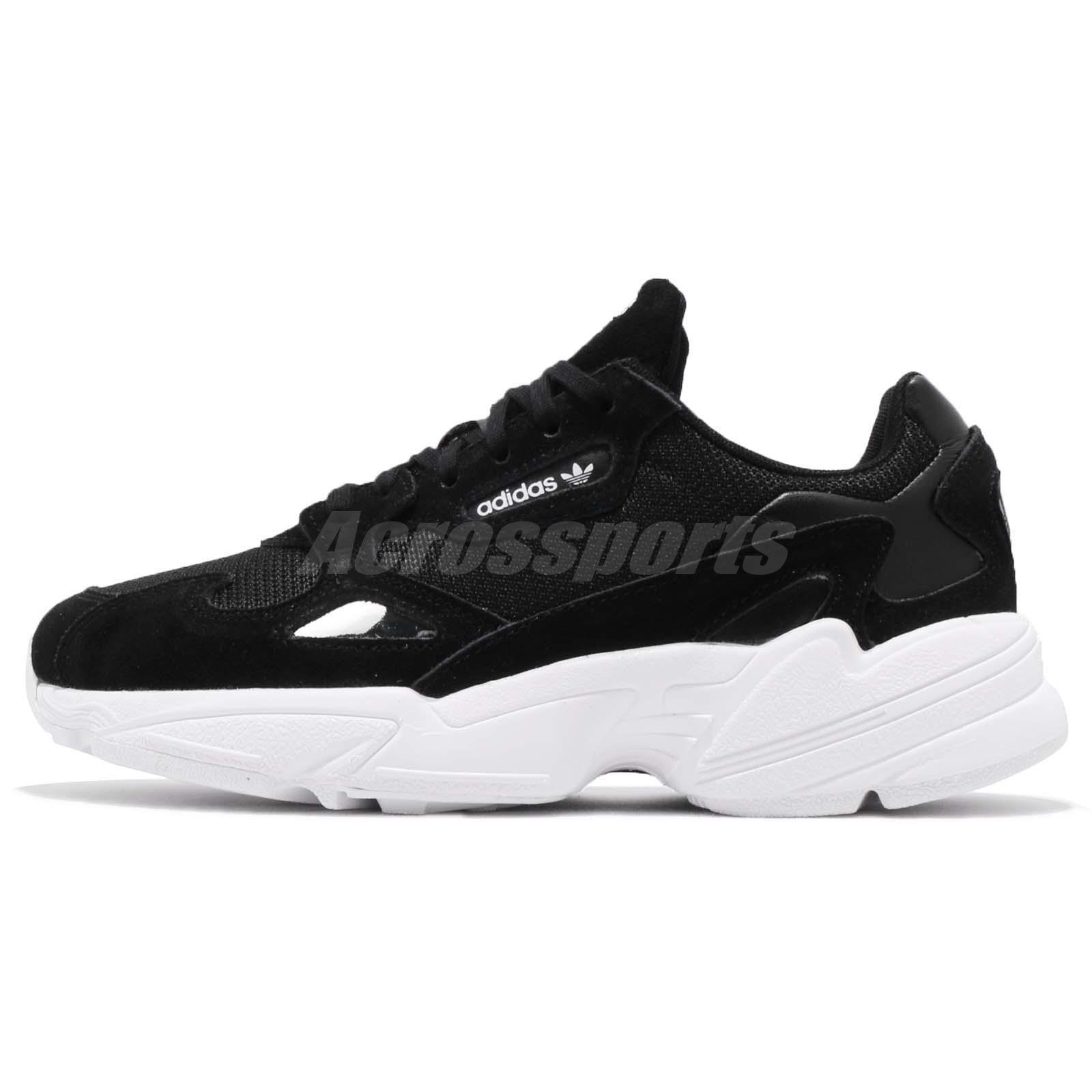 Labe Año nuevo regla  adidas Originals Falcon W Black White Womens Shoes Chunky Sneakers B28129 |  eBay