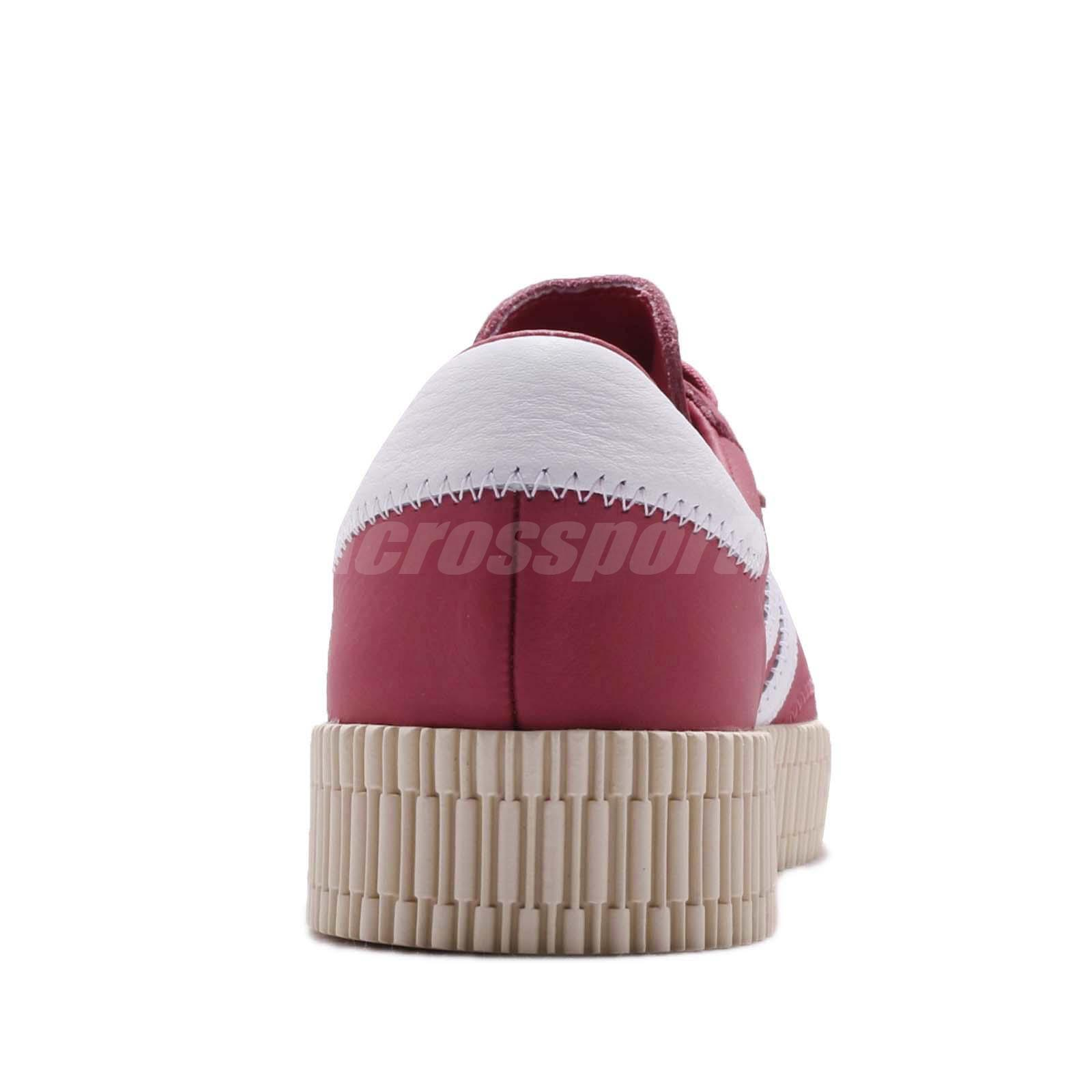 adidas Originals Sambarose W Trace Maroon White Women Platform Shoes ... 4b151dc4f29
