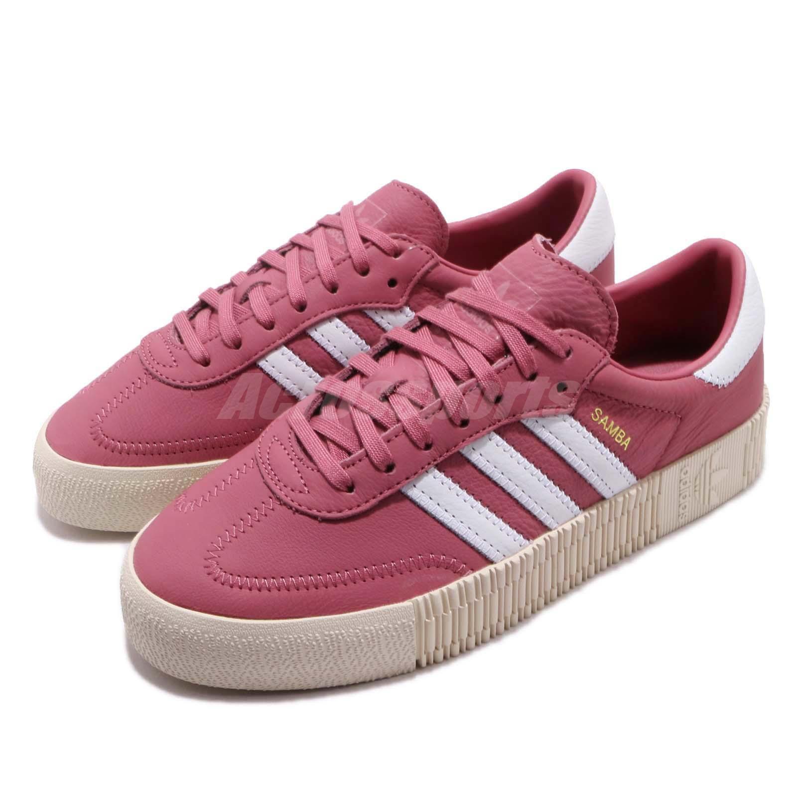 eabfa72c133 Details about adidas Originals Sambarose W Trace Maroon White Women Platform  Shoes B28161