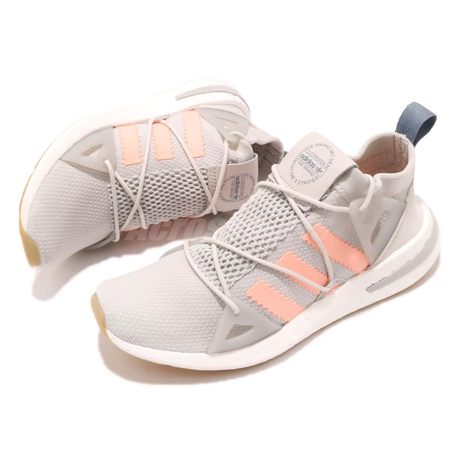 31a04a68a3d adidas Originals ARKYN W Grey Orange BOOST Sock-like Women Running ...
