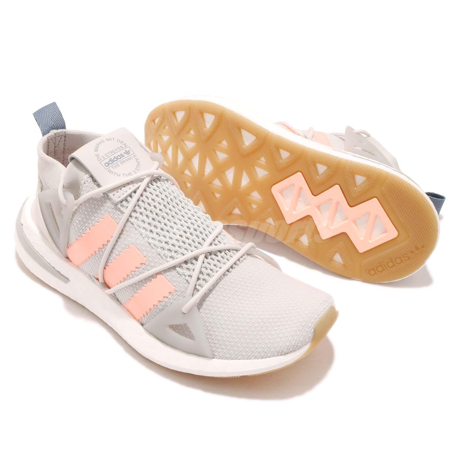 newest 9cc5d 0553c adidas Originals ARKYN W Grey Orange BOOST Sock-like Women Running ...