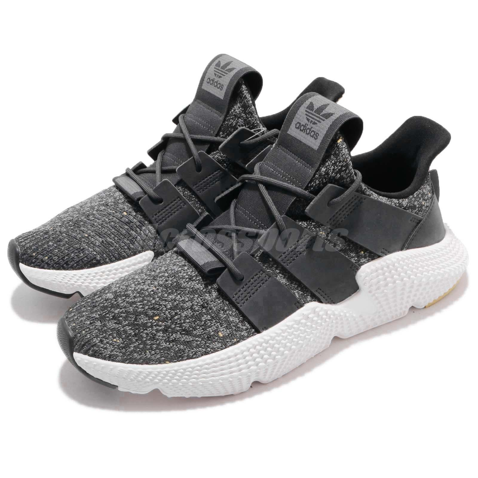 quality design 643fe 0b67c Details about adidas Originals Prophere Carbon Grey White Men Running Shoes  Sneakers B37073