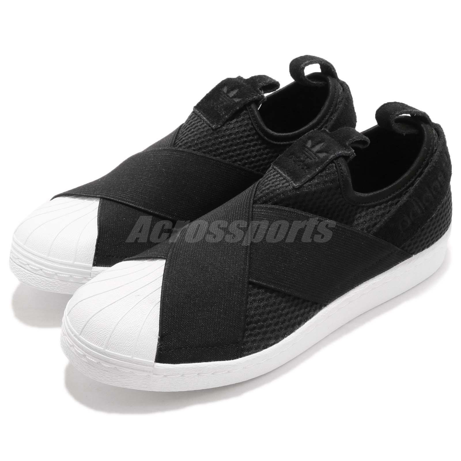 Details about adidas Originals Superstar Slip On Black White Women Casual Shoes Sneaker B37193