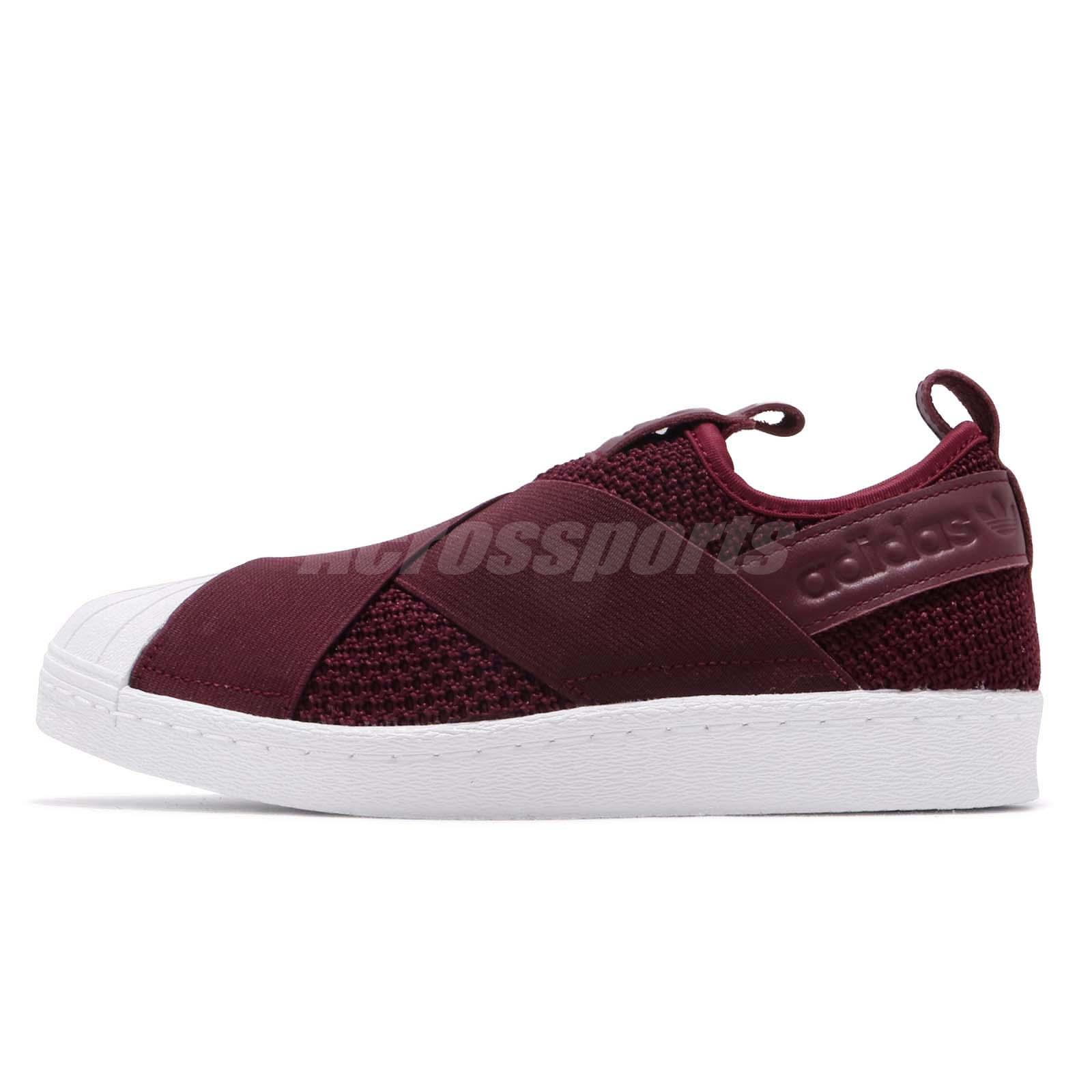 5c22a4706007 adidas Originals Superstar Slip On W Red Night White Women Casual Shoes  B37371