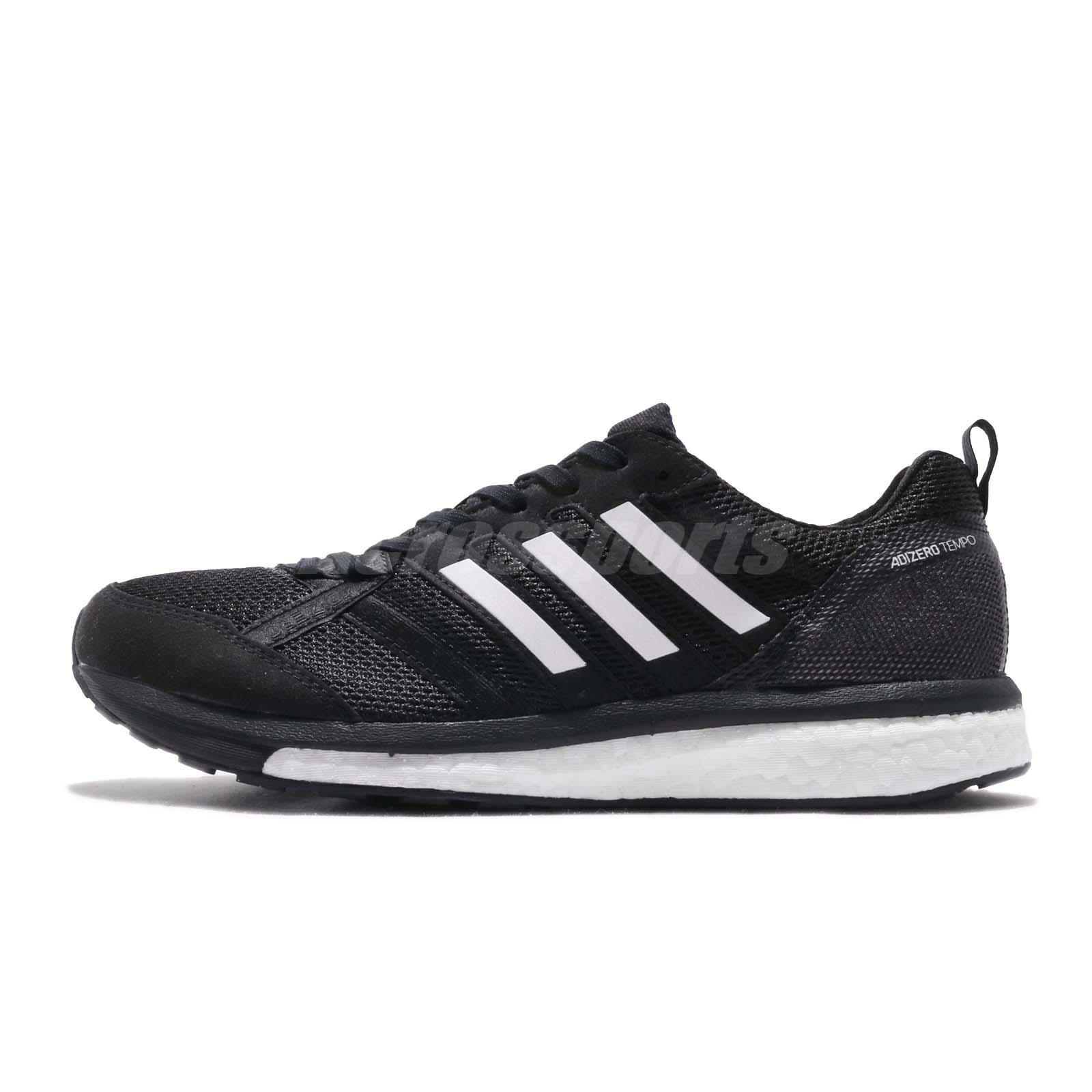 the best attitude b8fbc 496c6 Details about adidas Adizero Tempo 9 M Boost Black White Men Running Shoes  Sneakers B37423