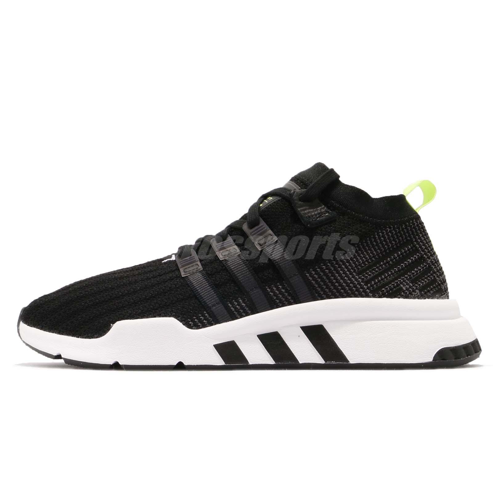 huge discount 67c1a 3d3a1 adidas Originals EQT Support Mid ADV PK Primeknit Black White Men Shoes  B37435