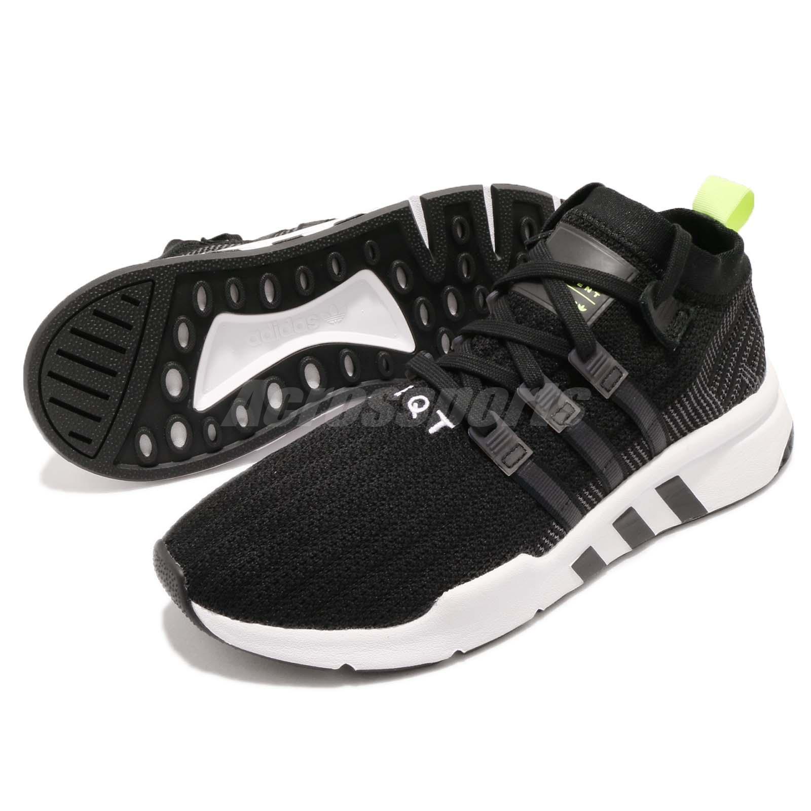 info for 11190 5b606 Details about adidas Originals EQT Support Mid ADV PK Primeknit Black White  Men Shoes B37435