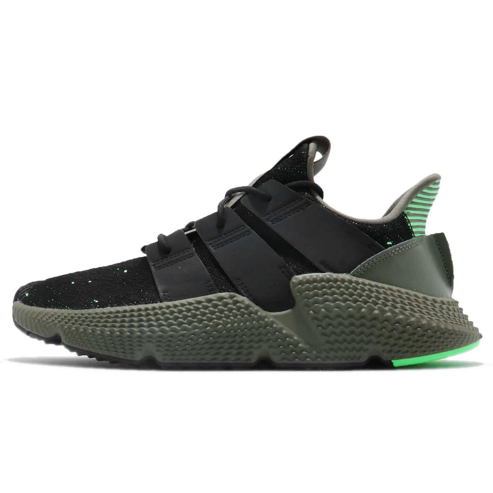 b662b8cc3cef08 adidas Originals Prophere Black Shock Lime Men Running Shoes Sneakers B37467