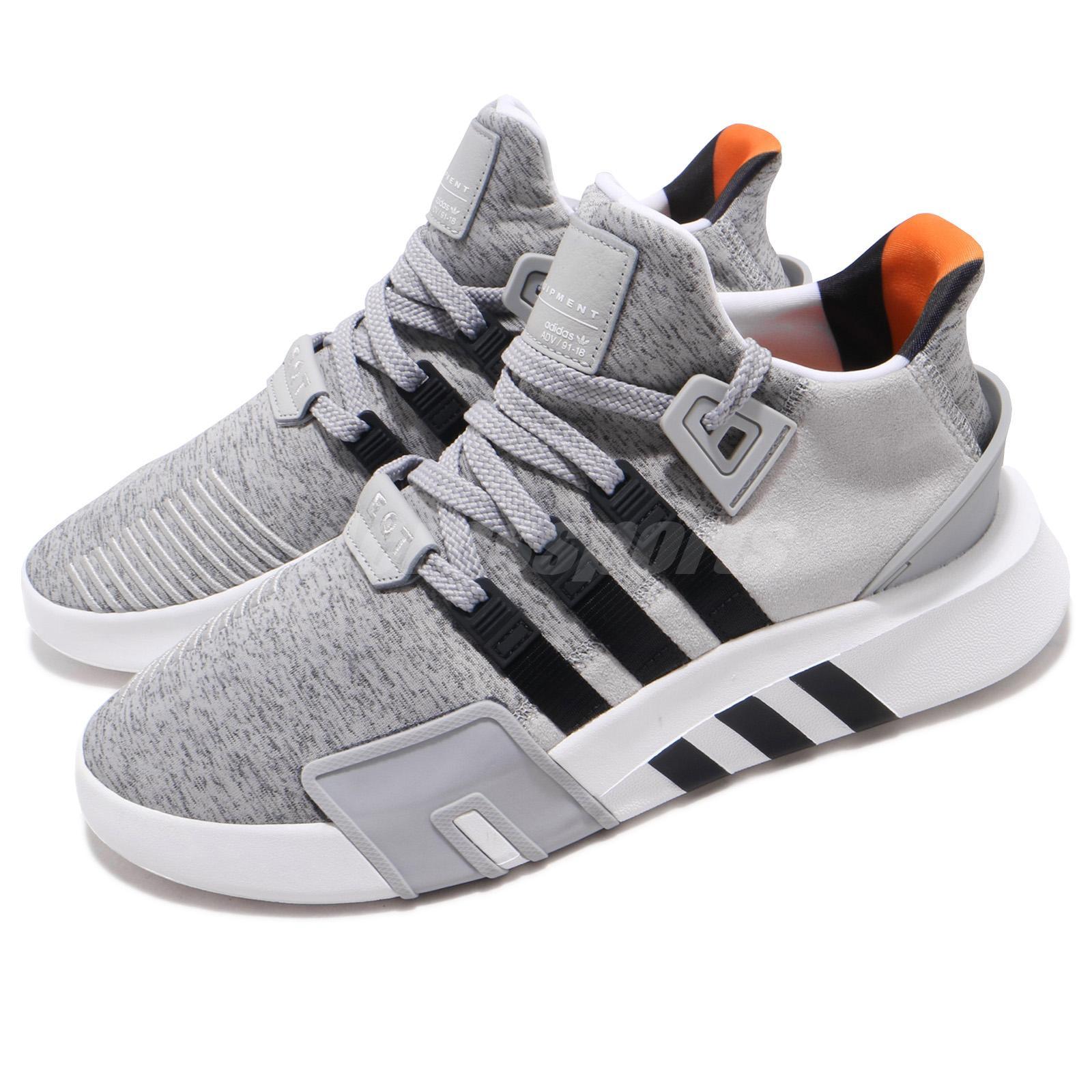 ef6cf8d30901 Details about adidas Originals EQT Bask ADV Grey Black White Men Running  Shoes Sneakers B37516