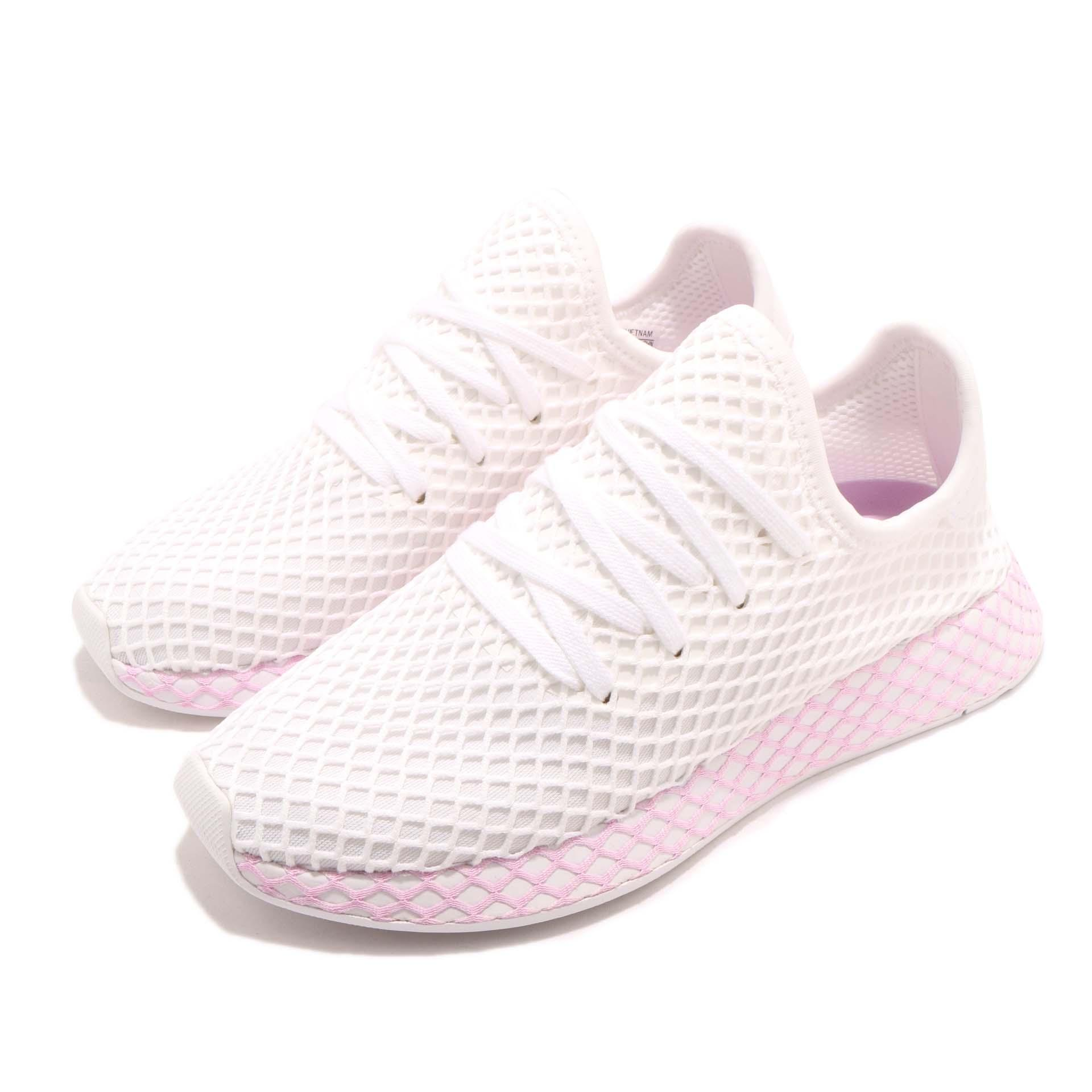 0fd7cb88e08 Details about adidas Originals Deerupt W Runner White Lilac Women Running  Shoes Sneaker B37601