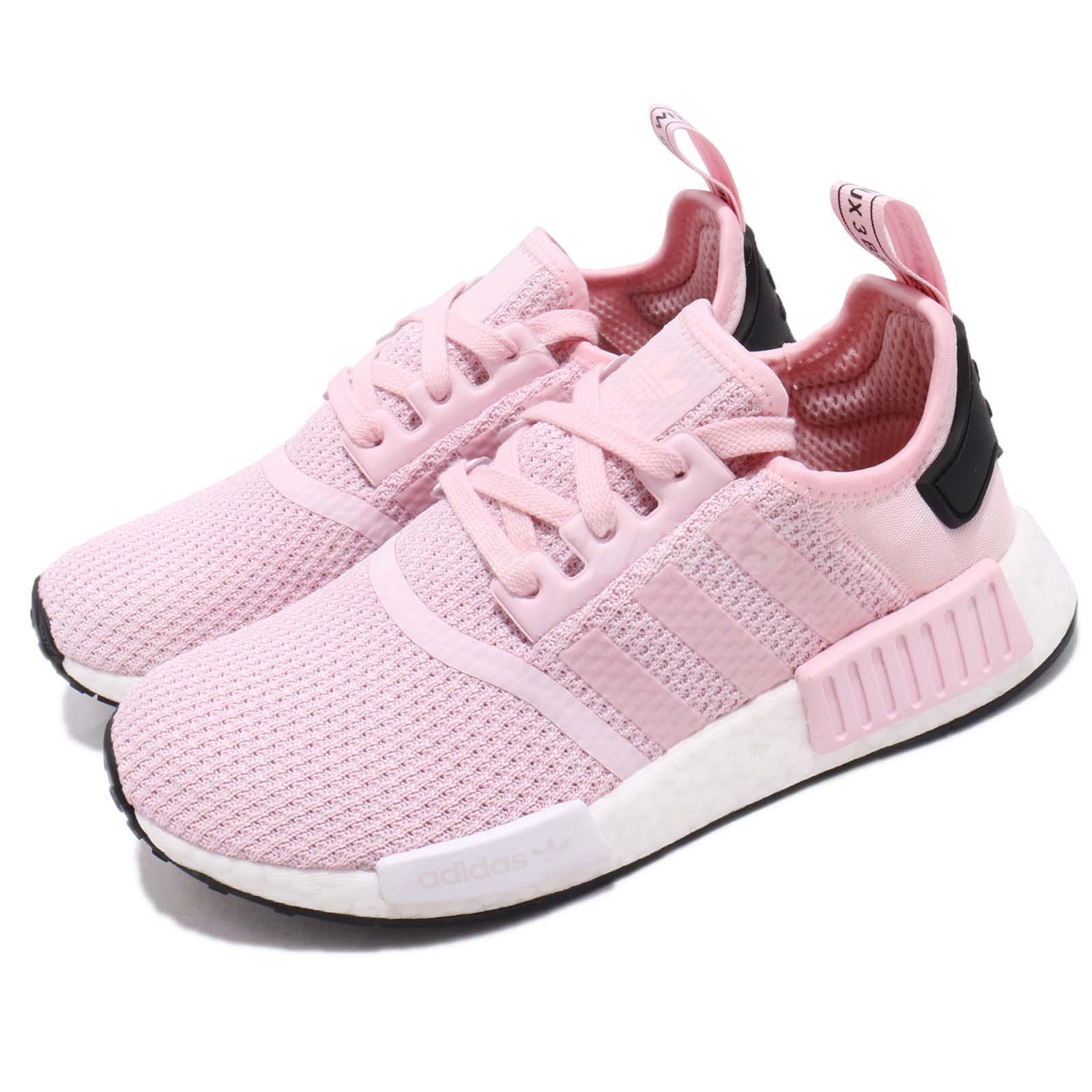 online store 83296 63263 Details about adidas Originals NMD_R1 W Boost Pink White Black Women  Running Shoes B37648
