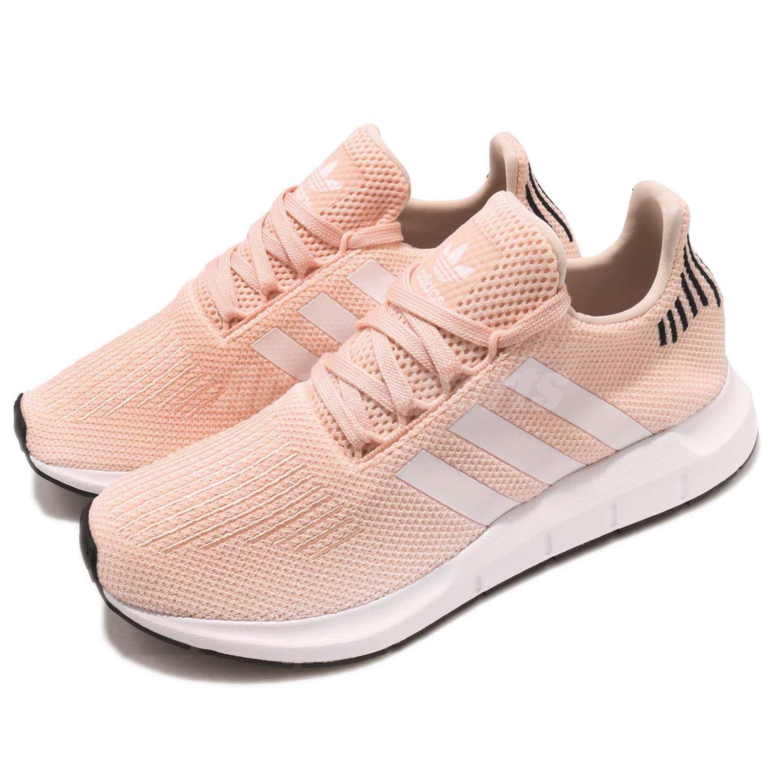 Details about adidas Originals Swift Run W Pink Black White Women Running Shoes Sneaker B37681
