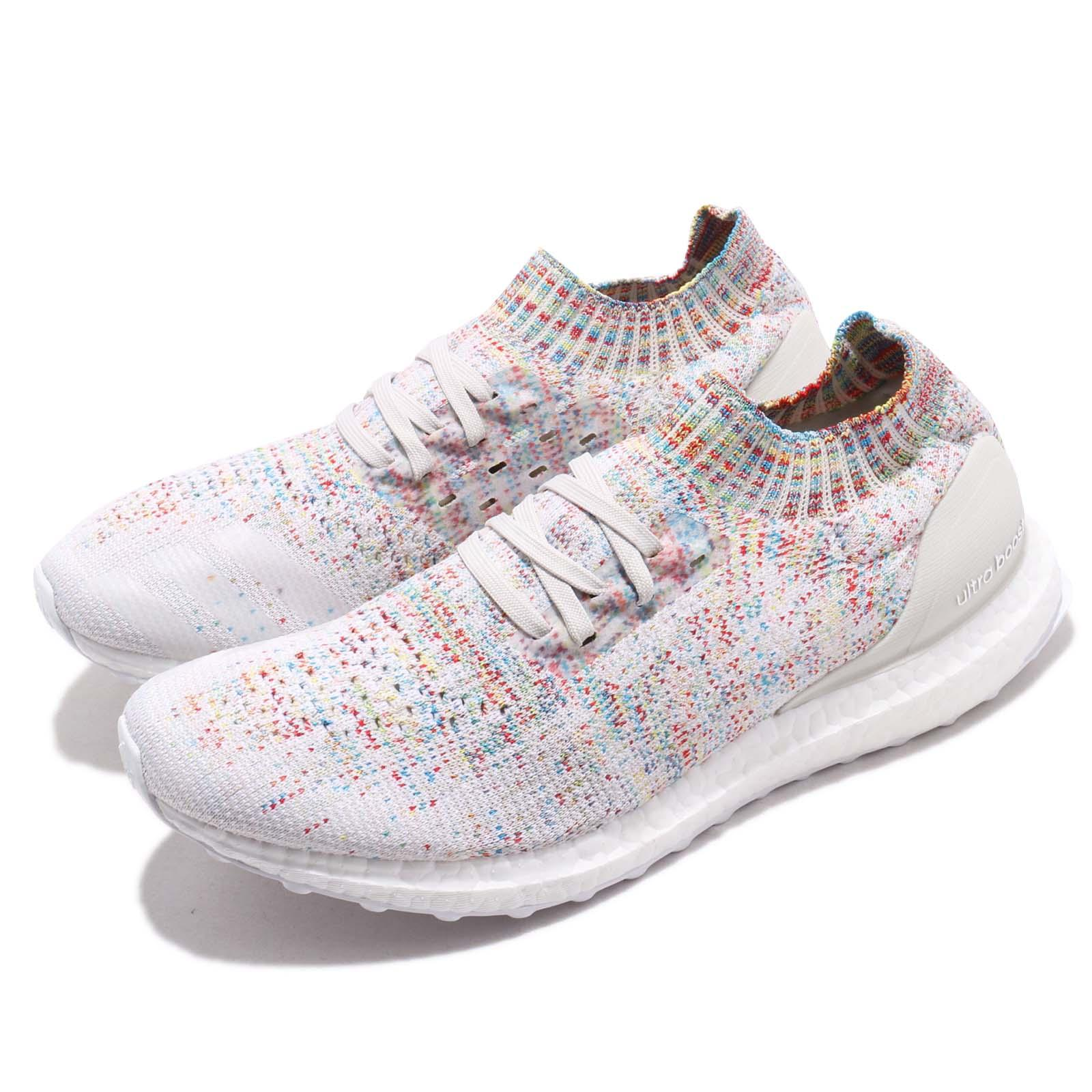 871e09c0d9dab Details about adidas UltraBOOST Uncaged White Shock Cyan Multi-Color Men  Women Shoes B37691