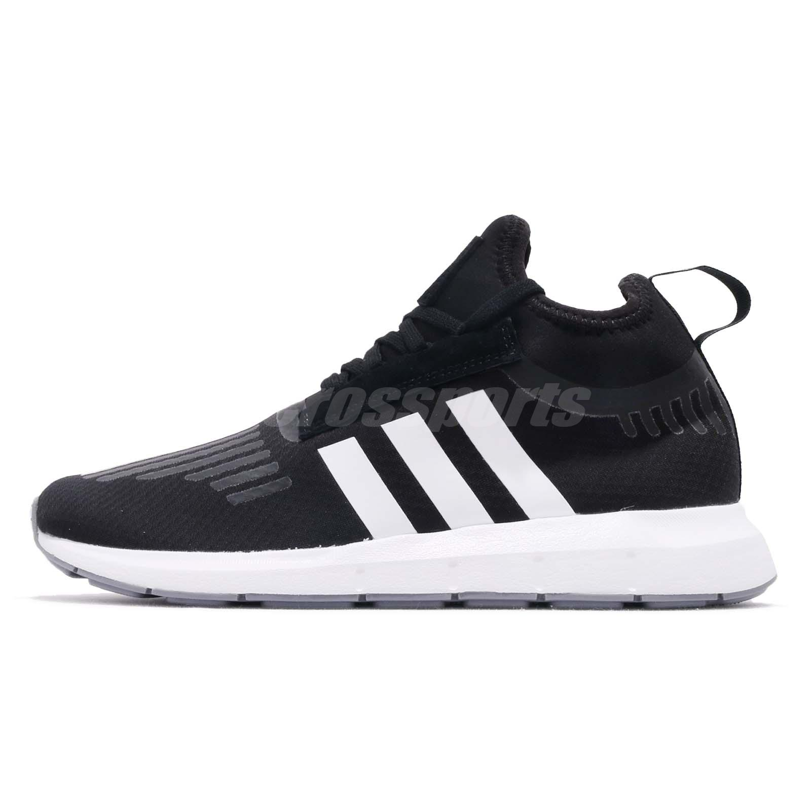 cc73d8f2bddf6 adidas Originals Swift Run Barrier Black White Grey Men Running Shoes B37701