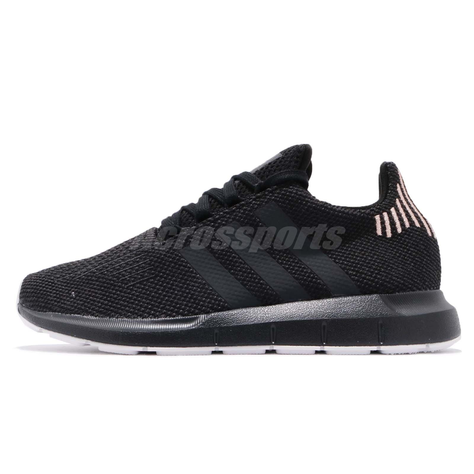 a22ea608480a07 adidas Originals Swift Run W Black Carbon Women Running Shoes Sneakers  B37723