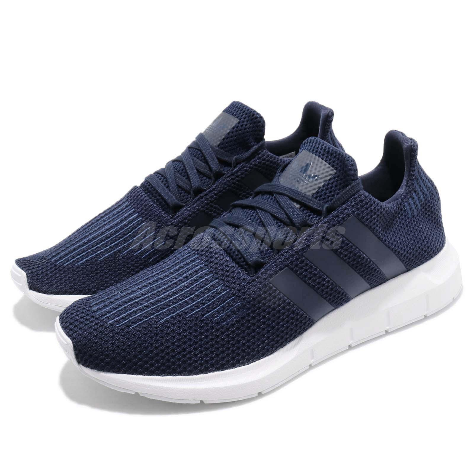 competitive price 35ddf 5c5d2 Details about adidas Swift Run Collegiate Navy White Men Running Casual Shoes  Sneakers B37727