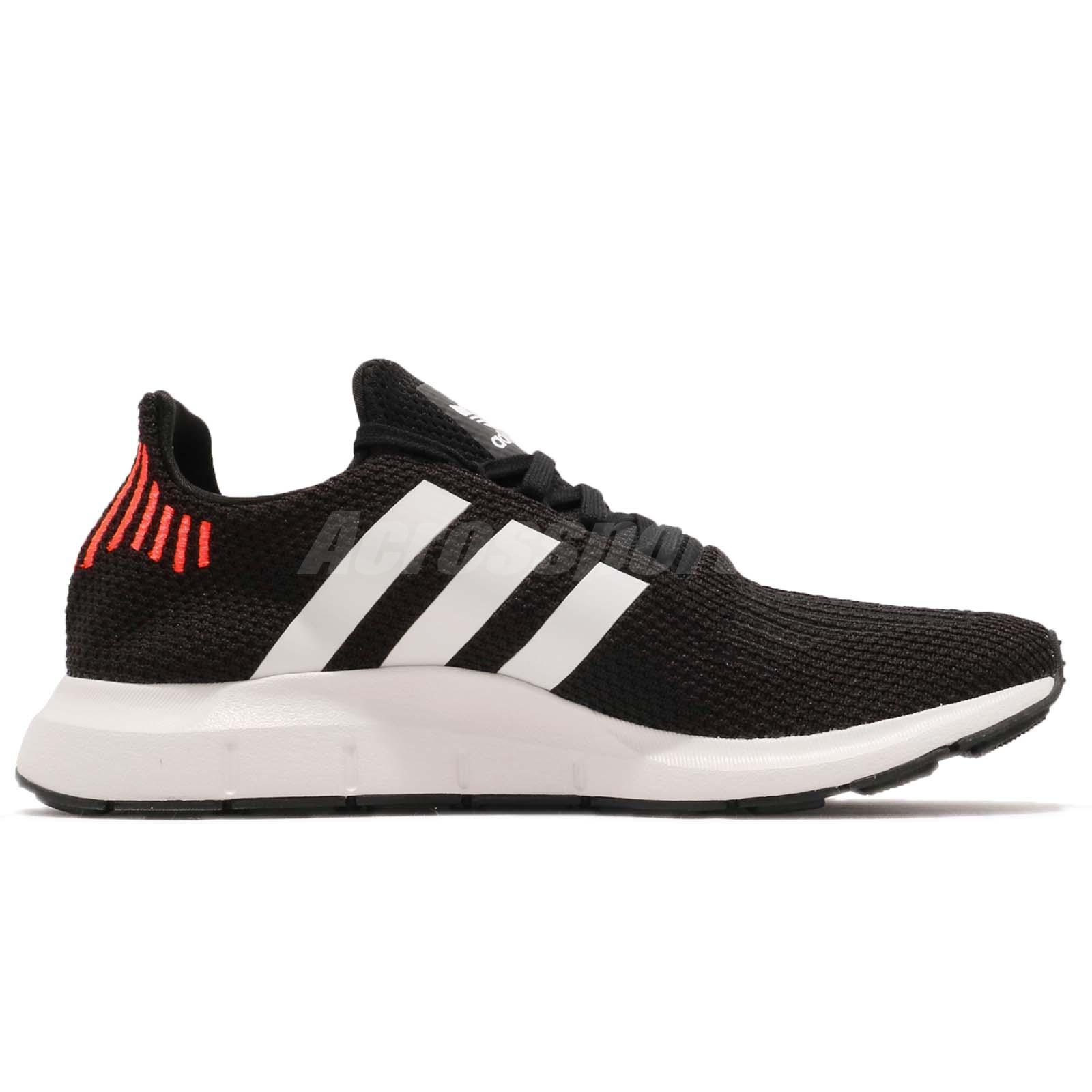 cd255abbbecde adidas Originals Swift Run Black White Men Running Training Shoes ...