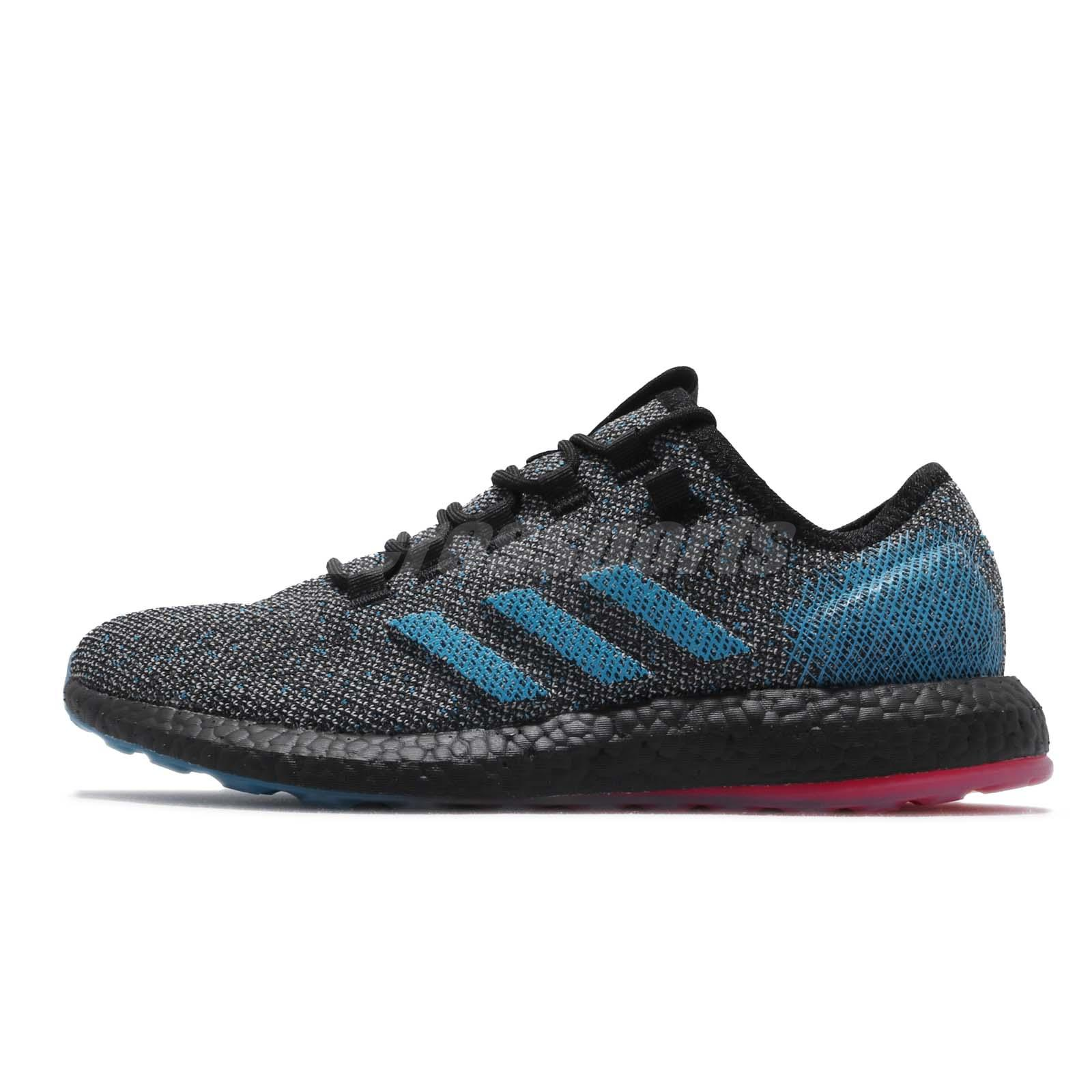 888c90e61bff4 adidas PureBOOST LTD Black Blue Reflective BOOST Mens Running Shoes B37811