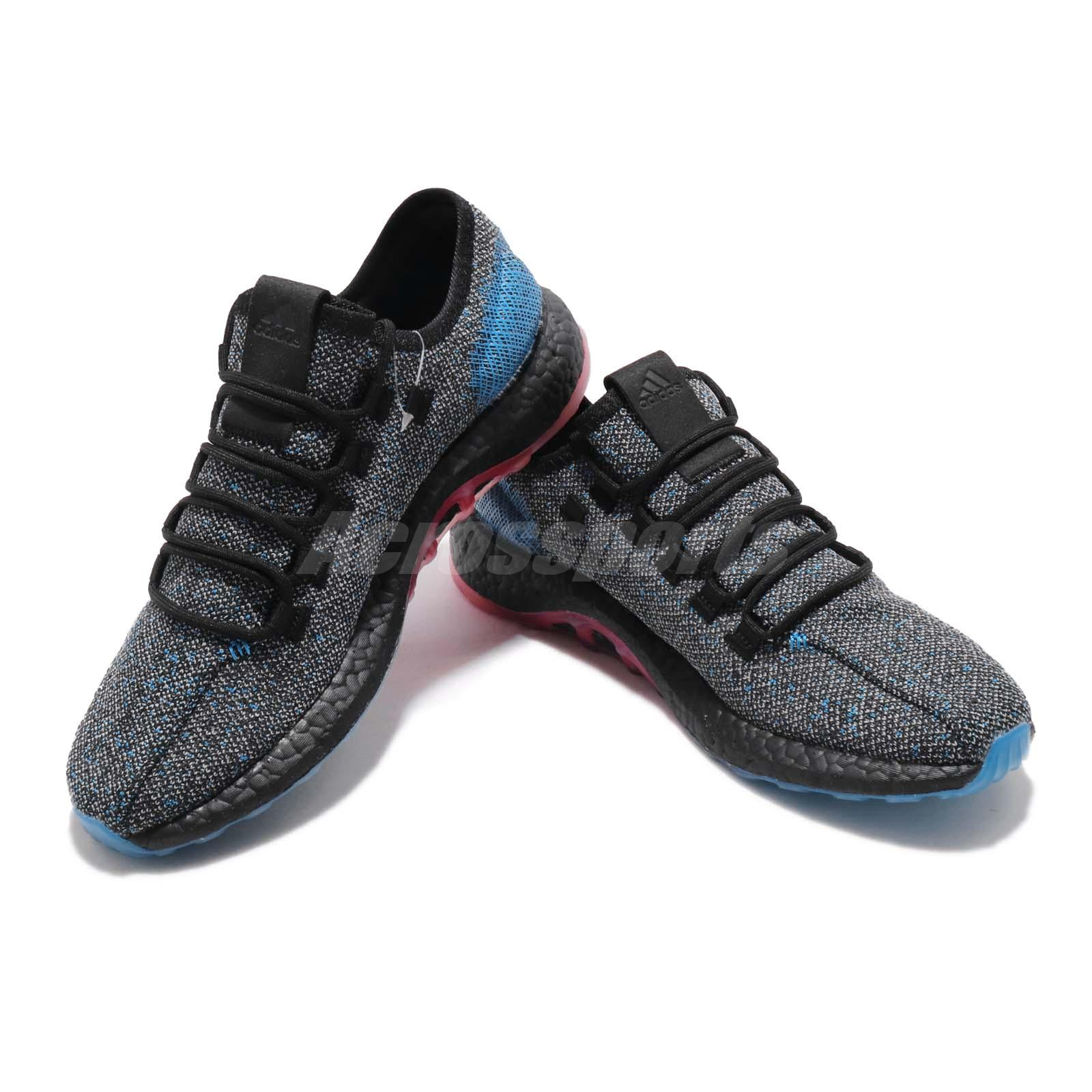 f020d3a73ae8c adidas PureBOOST LTD Black Blue Reflective BOOST Mens Running Shoes ...