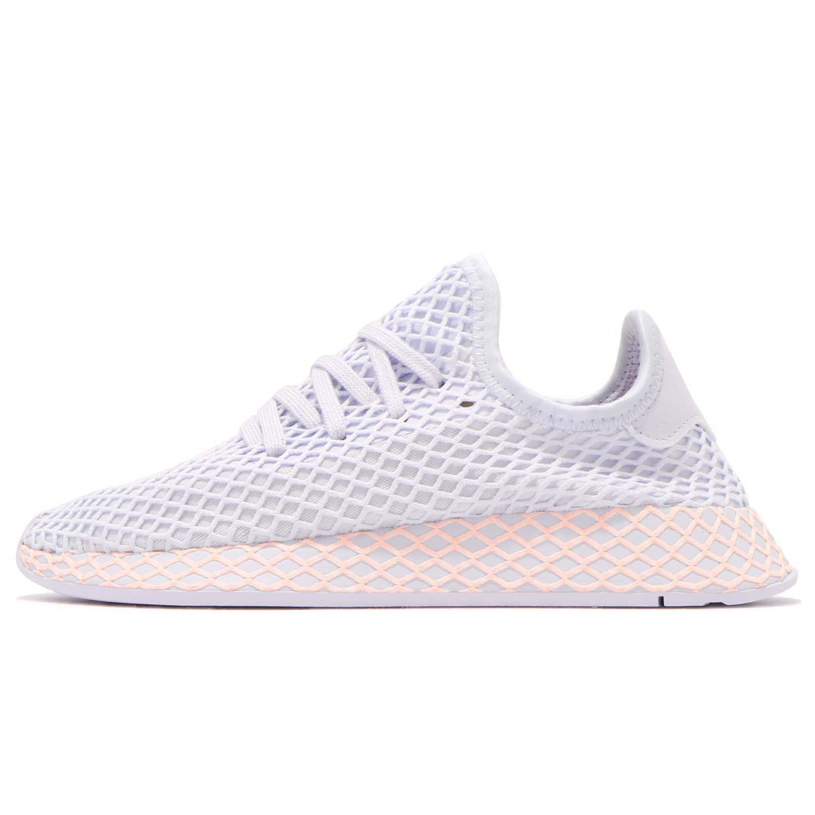 add7abba9 adidas Originals Deerupt W Runner Aero Blue Clear Orange Running Shoes  B37878