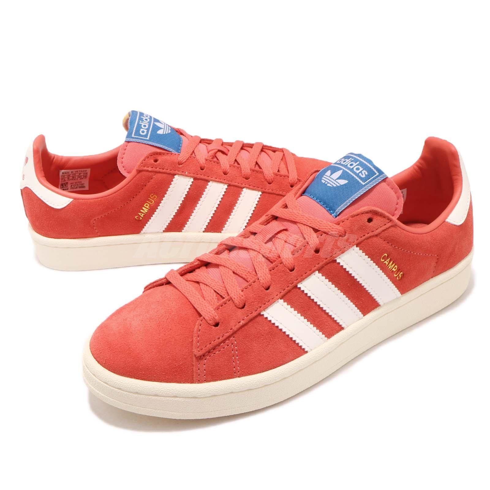 c93e9b8d0e1d1 Details about adidas Originals Campus W Scarlet White Women Classic Casual  Shoe Sneaker B37935