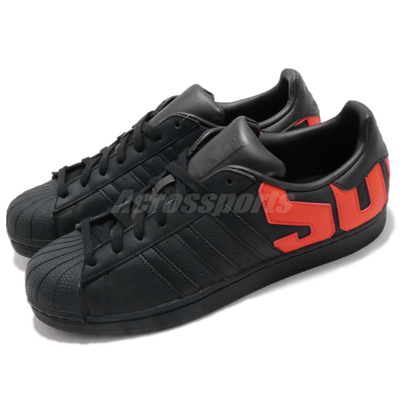 Details About Adidas Originals Superstar Big Logo Black Orange Men Casual Shoes Sneaker B37981