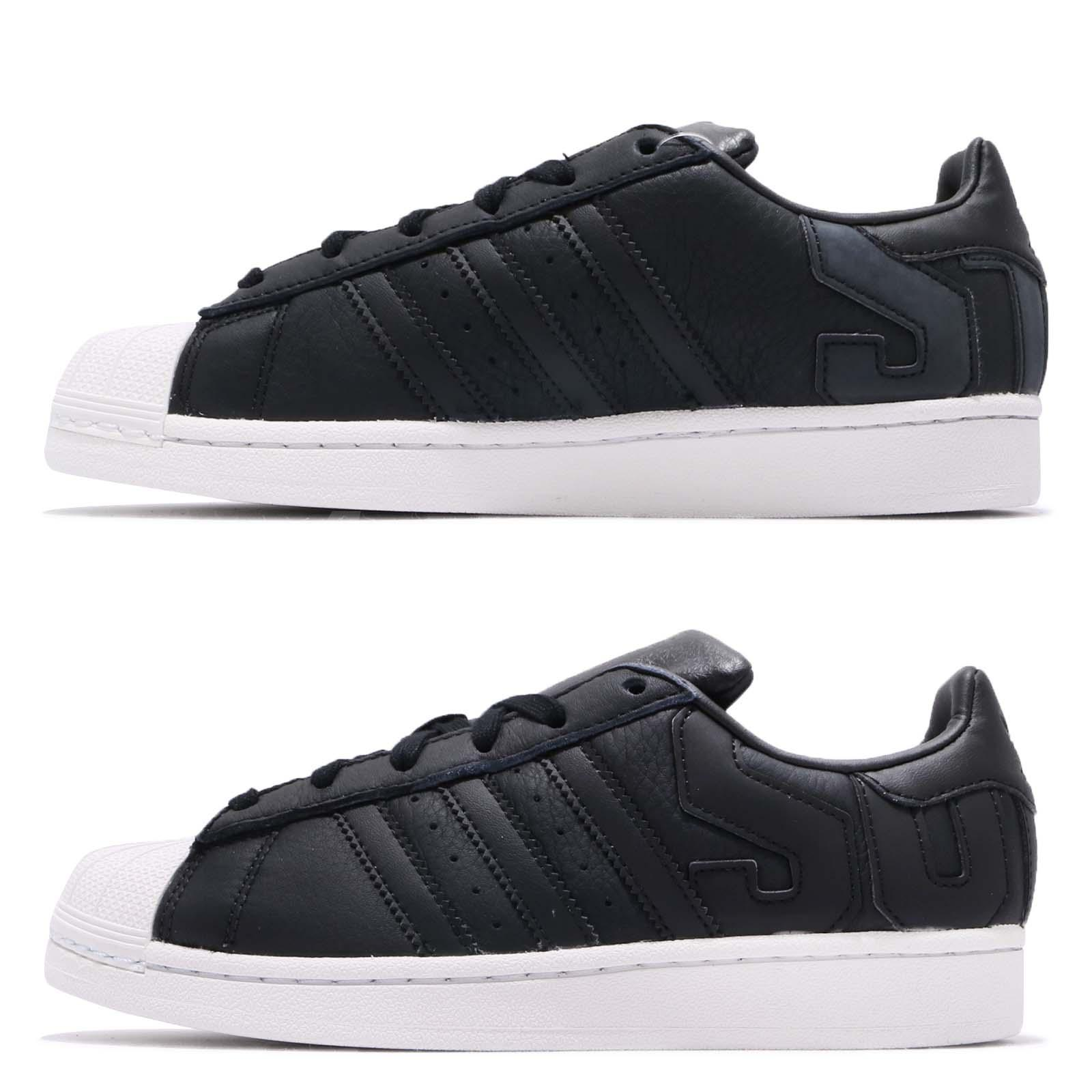 separation shoes 682a7 aa759 adidas Originals Superstar Big Logo Black White Men Women Casual Shoes  B37985