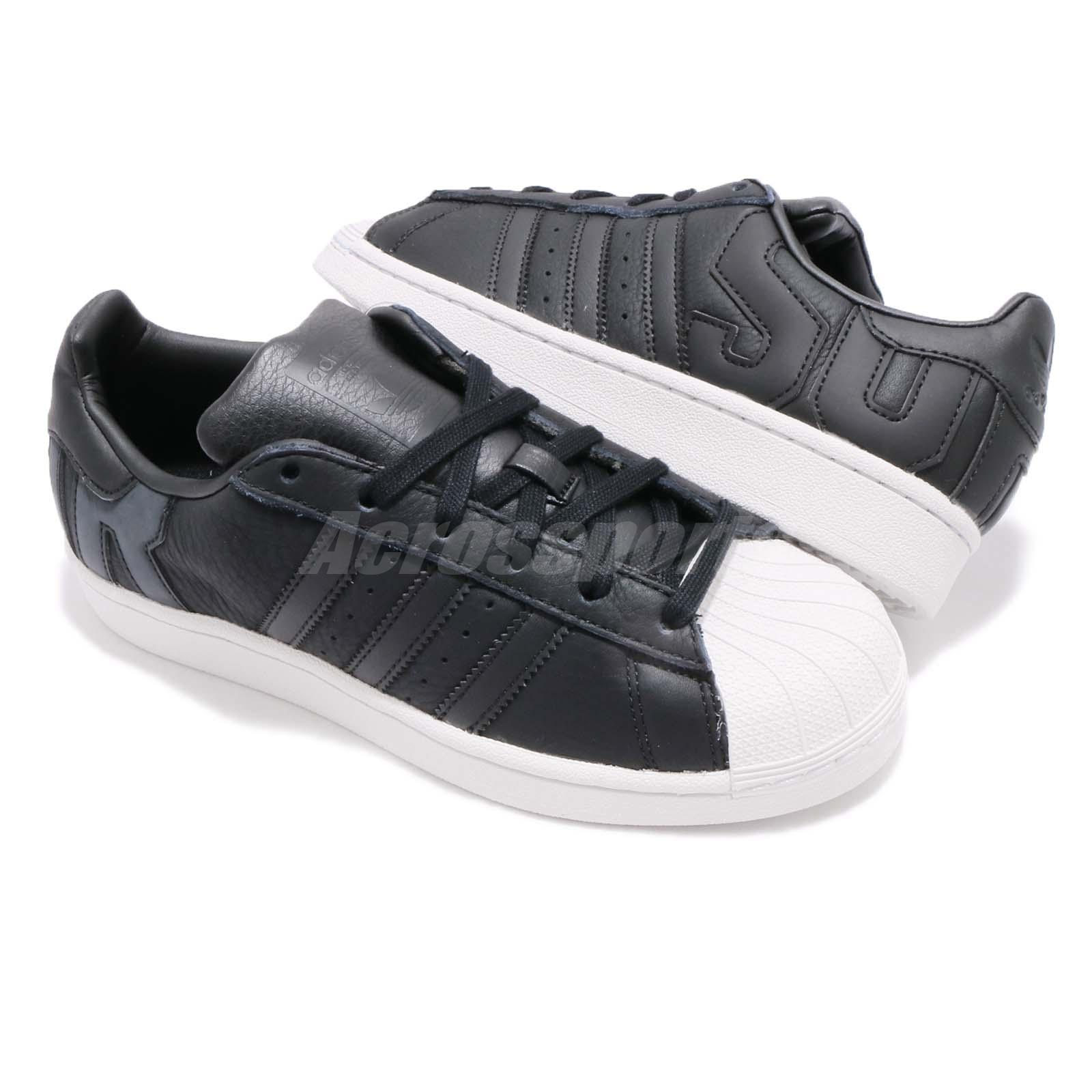 san francisco df180 c2611 adidas Originals Superstar Big Logo Black White Men Women Casual ...