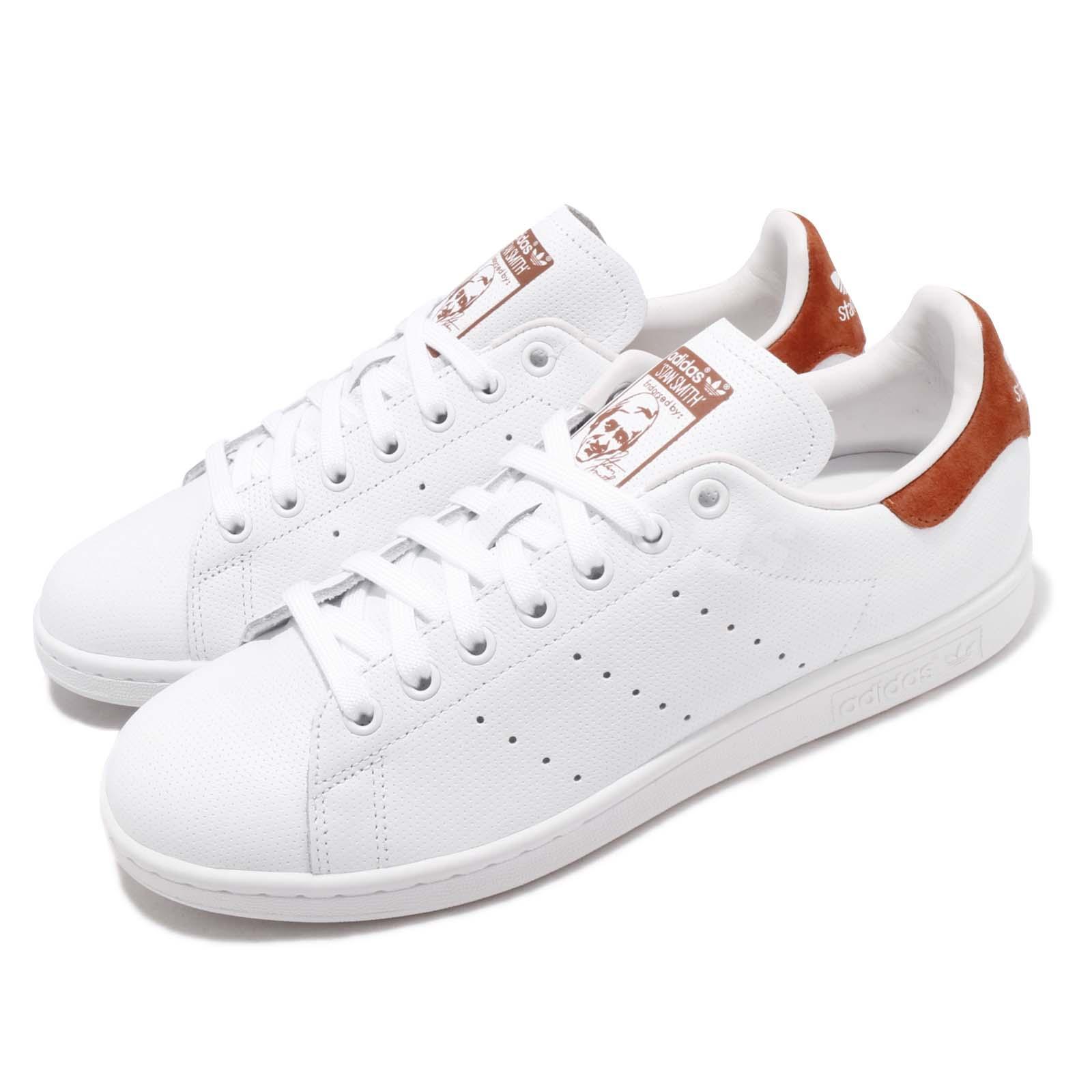 Detalles de Zapatos Adidas Originales Hombre Mujer Stan Smith B38040 Blanco Marrón Nuevos