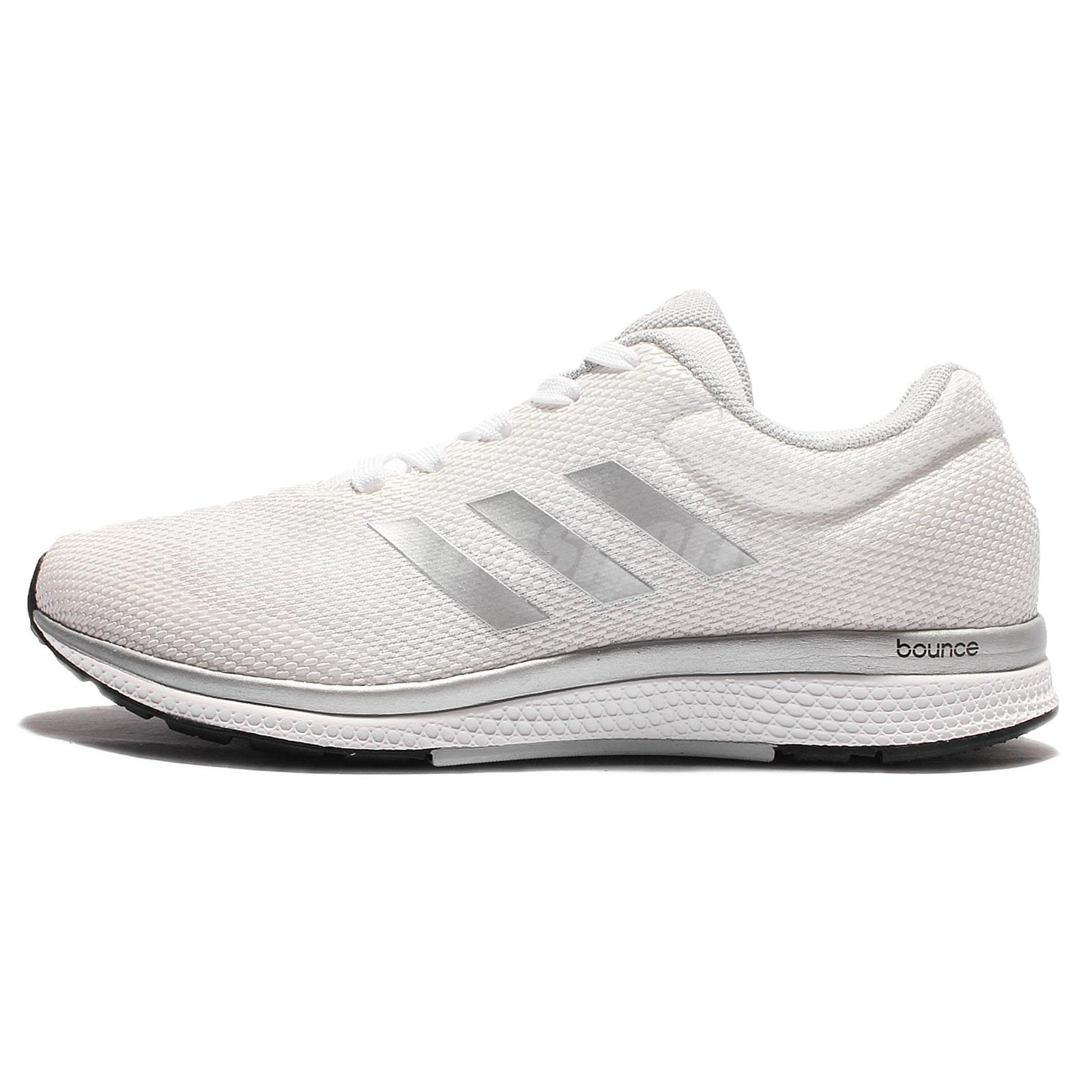df1313d99 adidas Mana Bounce 2 W Aramis White Silver Womens Running Shoes B39027