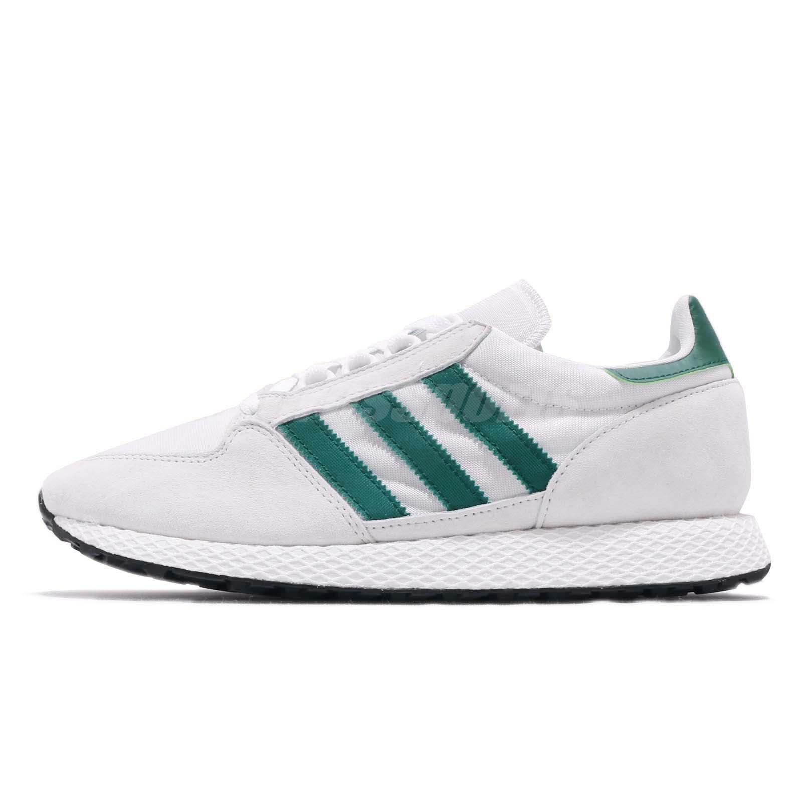 Detalles acerca de Adidas Originals Bosque Grove Blanco Verde Hombres  Running Zapatos TENIS B41546- mostrar título original