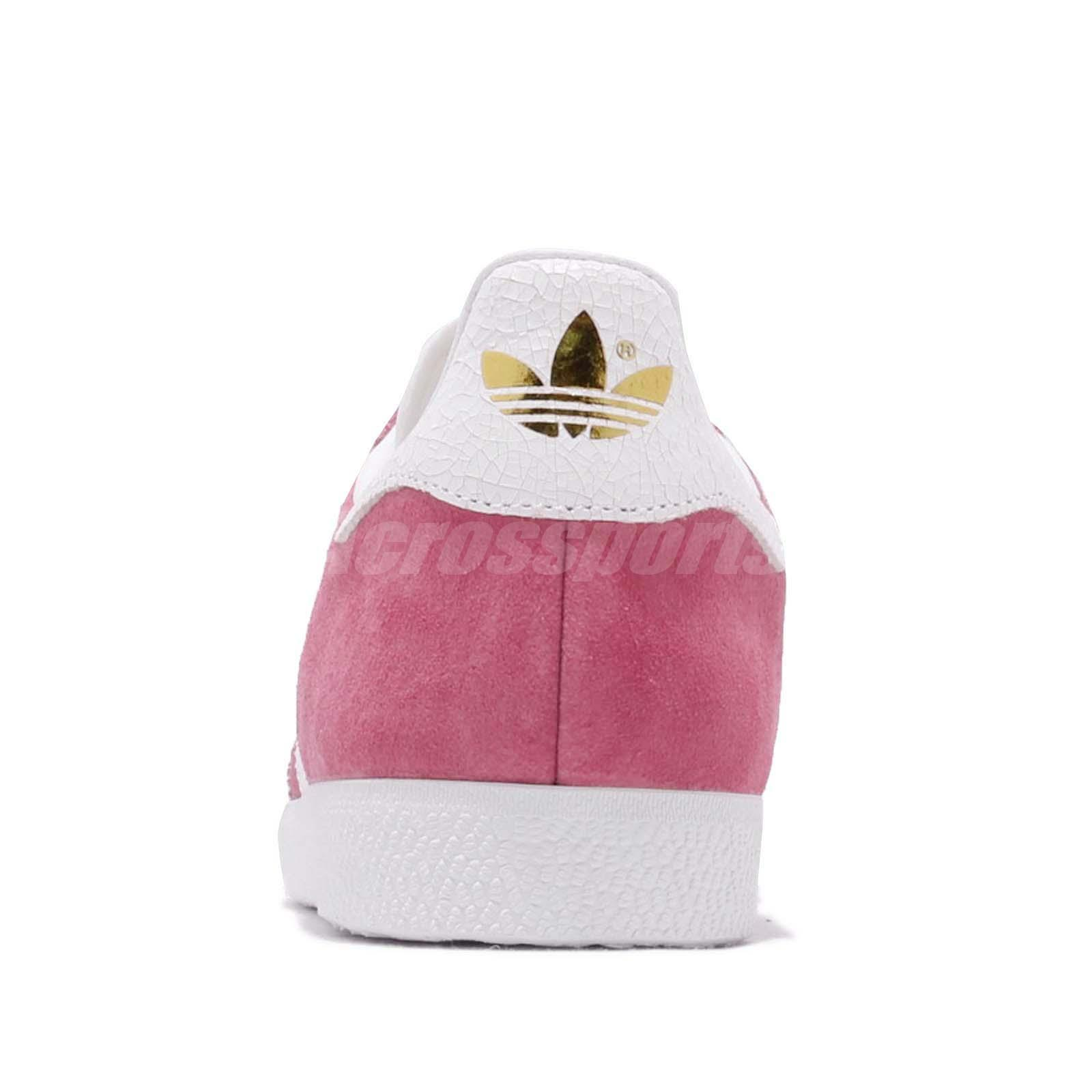 profesional aprobar Punto de referencia  adidas Originals Gazelle W Pink White Women Casual Classic Shoes Sneakers  B41658 | eBay