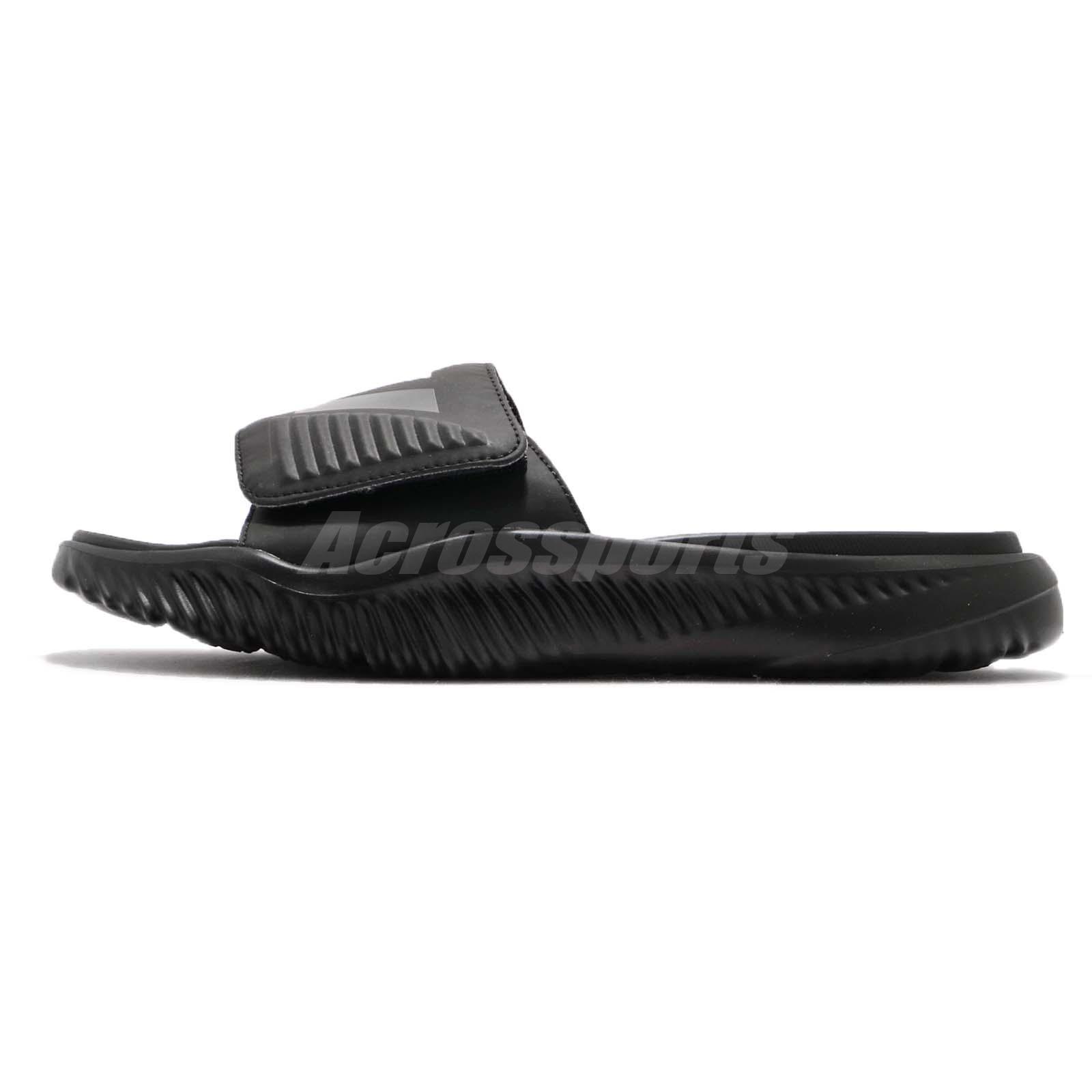 a20ef09d5 adidas AlphaBounce Slide Triple Black Men Sports Sandals Slippers ...