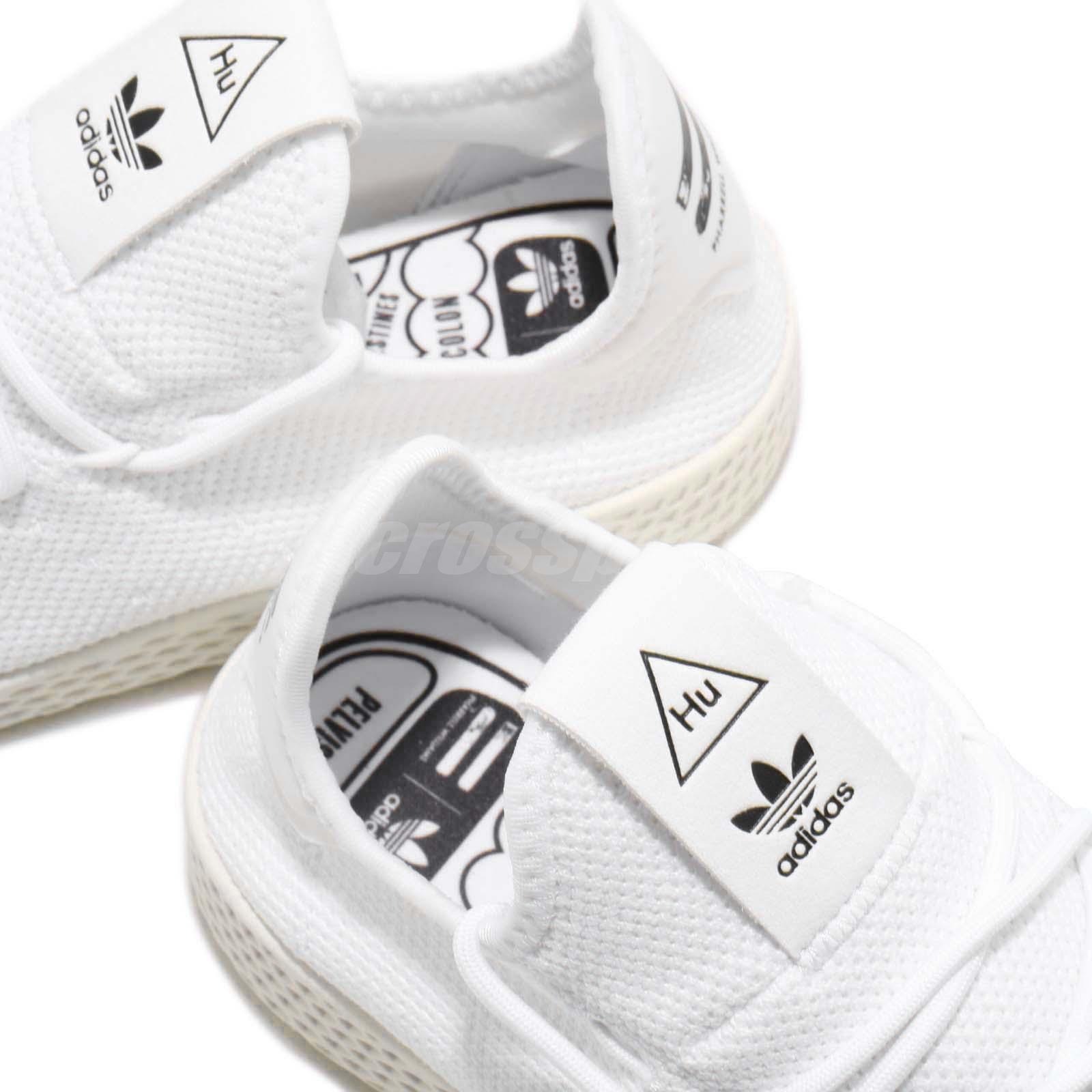 release date ef667 69986 adidas Originals PW Tennis Hu Pharrell Williams White Black Men ...
