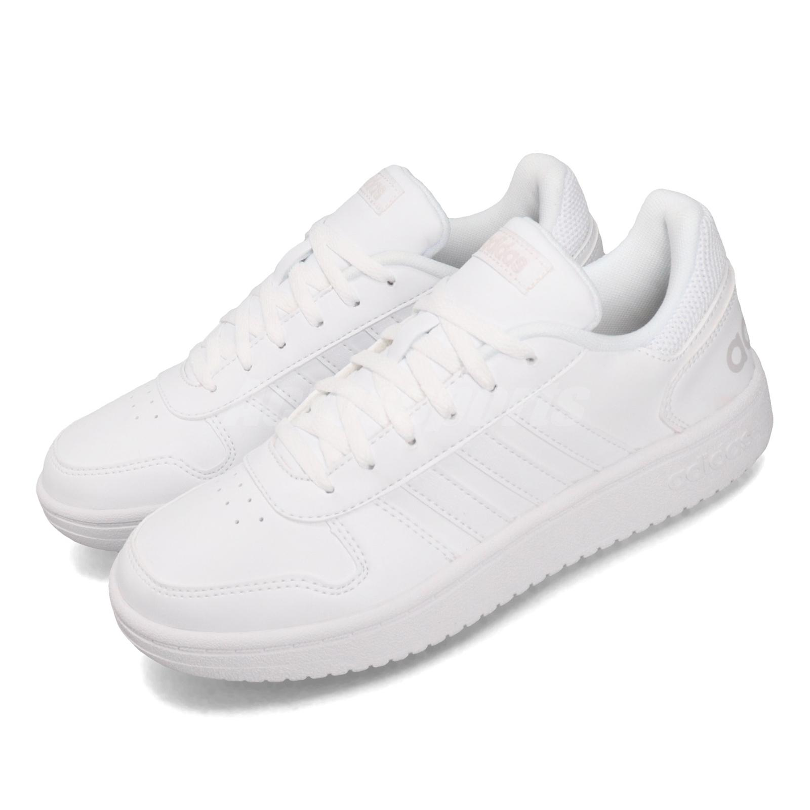adidas Hoops 2.0 White Grey Women