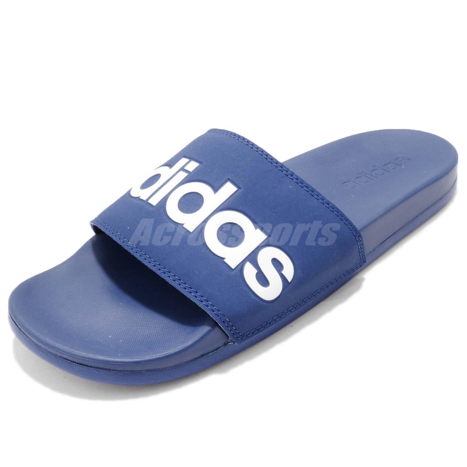 ac0a3736168cd4 adidas Adilette Comfort Blue White Men Sports Sandals Slides Slippers B42208