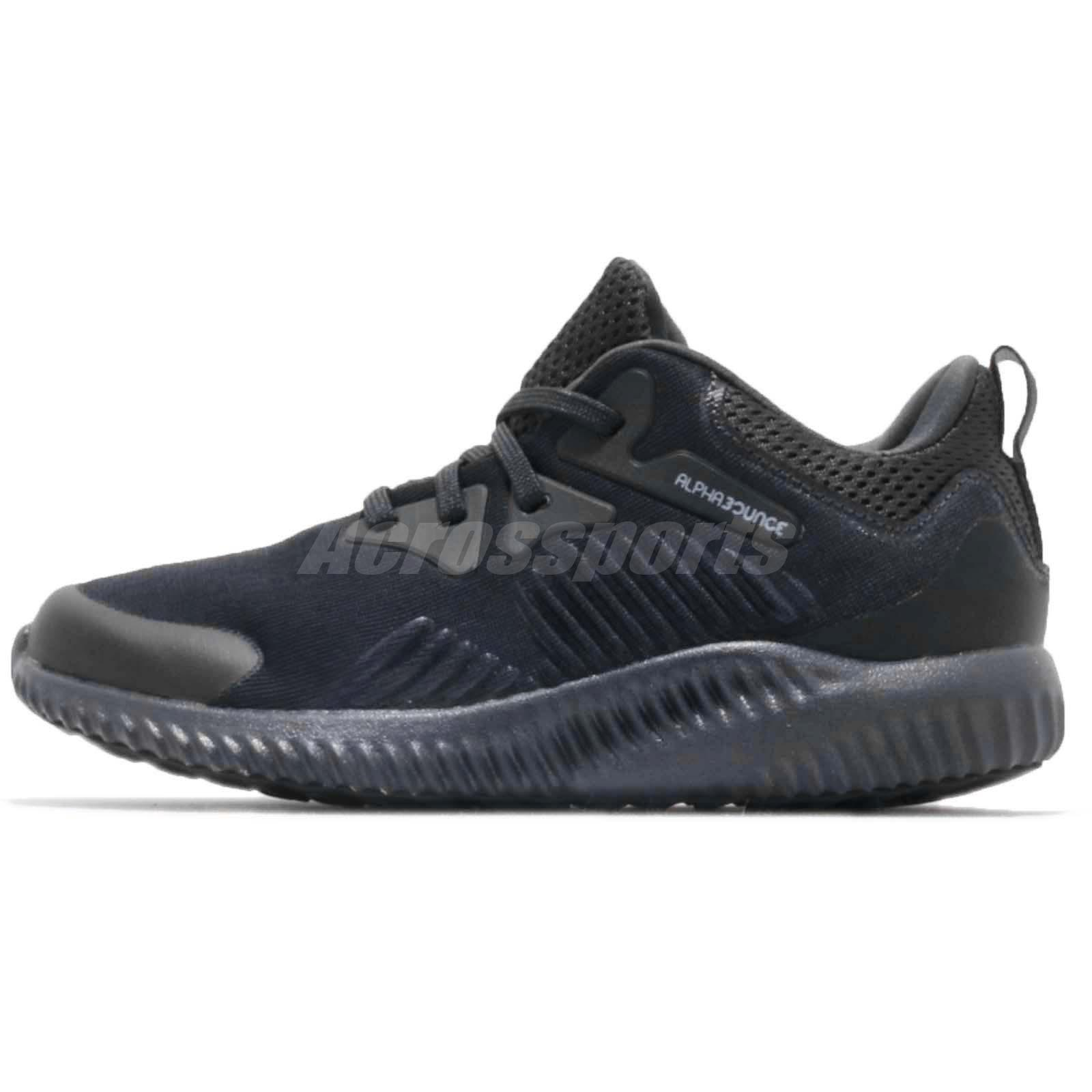 adidas Alphabounce Beyond C Carbon Grey Black Kid Preschool Shoes Sneaker  B42285