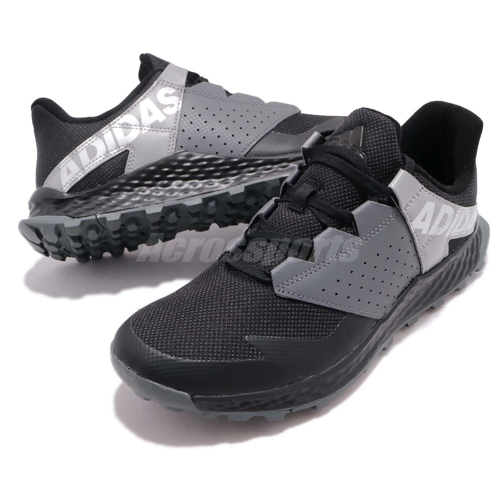 961842c54187b9 adidas Vigor Bounce K Black Grey Kid Junior Preschool Shoes Sneakers ...