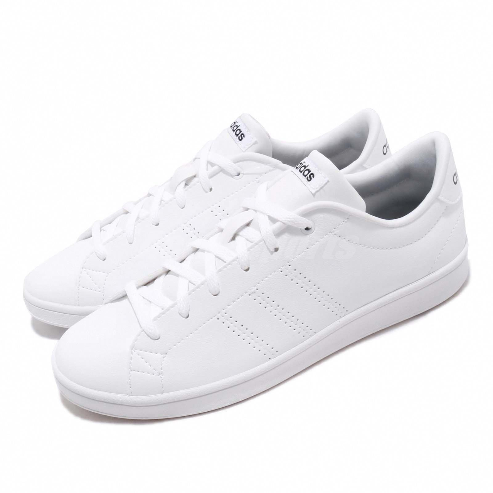 Details about adidas Neo Advantage Clean QT White Black Women Casual Shoes Sneakers B44667