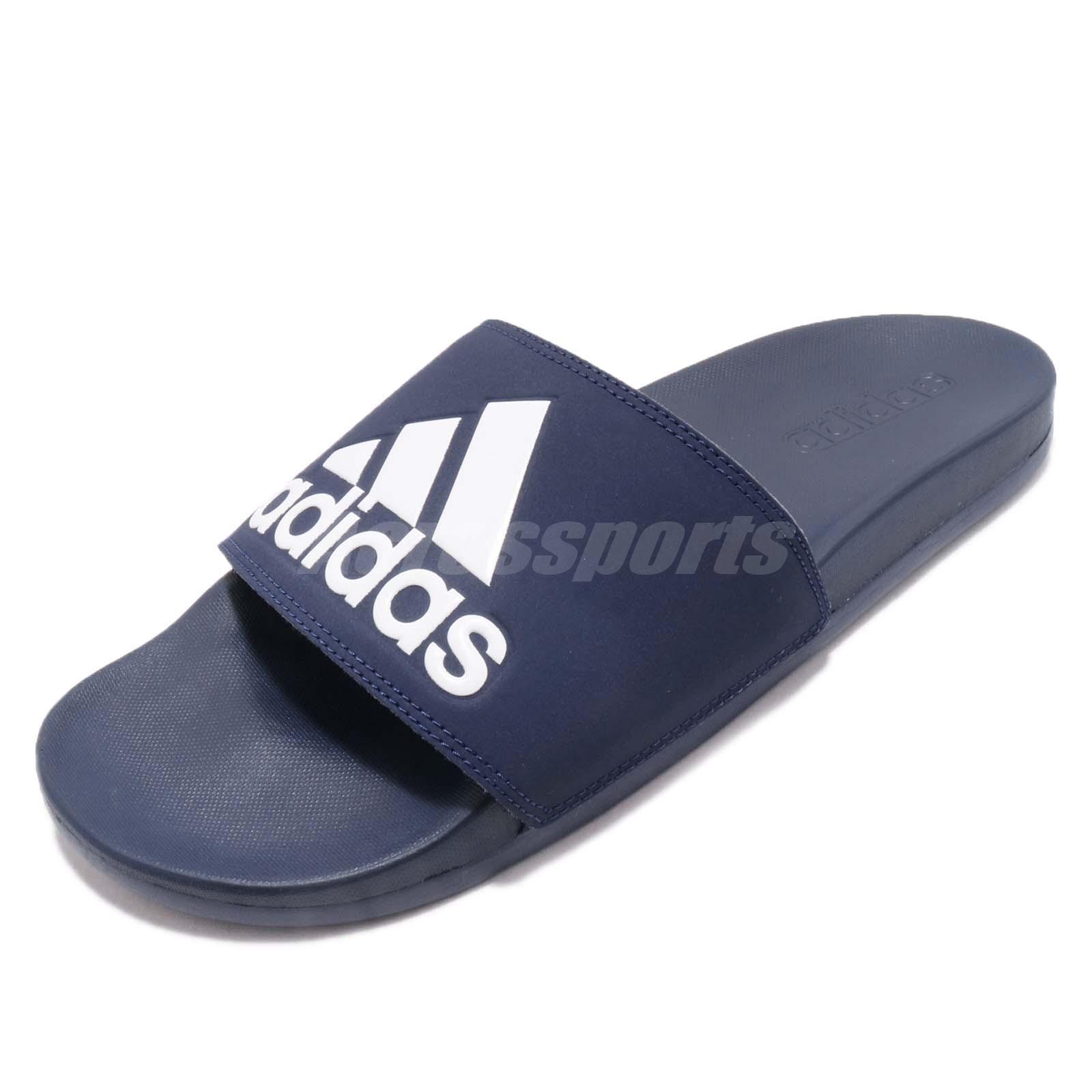 9c210e3c500968 adidas Adilette Cloudfoam Plus Logo Slides Dark Blue Men Sports Sandals  B44870