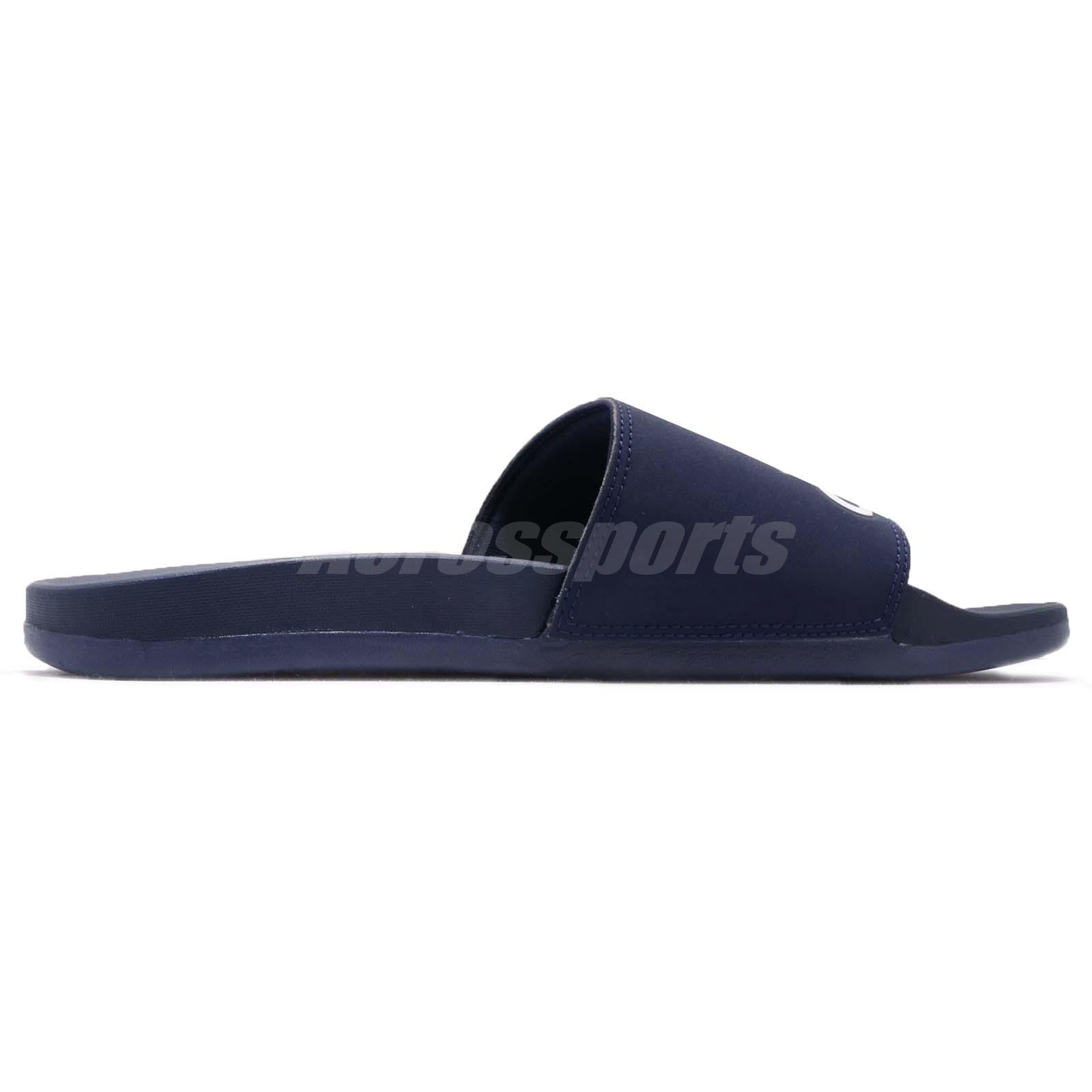 61c423f4d7c65a adidas Adilette Cloudfoam Plus Logo Slides Dark Blue Men Sports ...