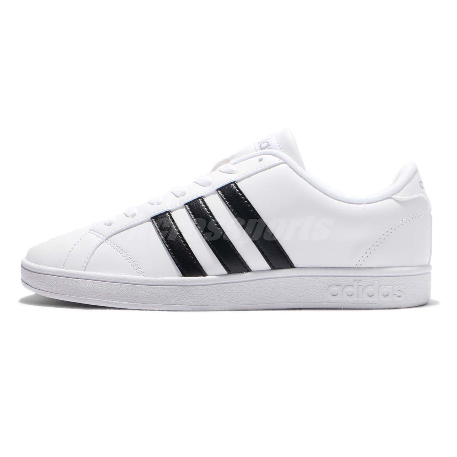 adidas neo label baseline white black mens casual shoes. Black Bedroom Furniture Sets. Home Design Ideas