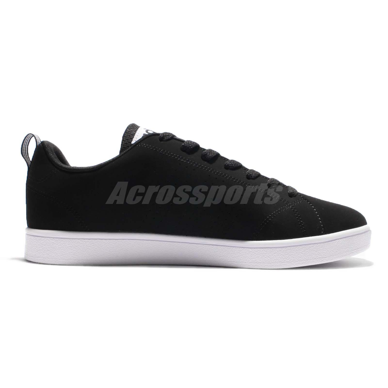 adidas neo label vs advantage clean black white men casual shoes