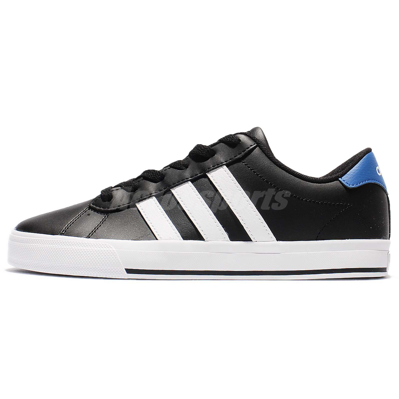 sports shoes 665f0 3c8e0 ... adidas Neo Daily Black White Blue Leather Men Classic Shoes Sneakers  B74479 ...
