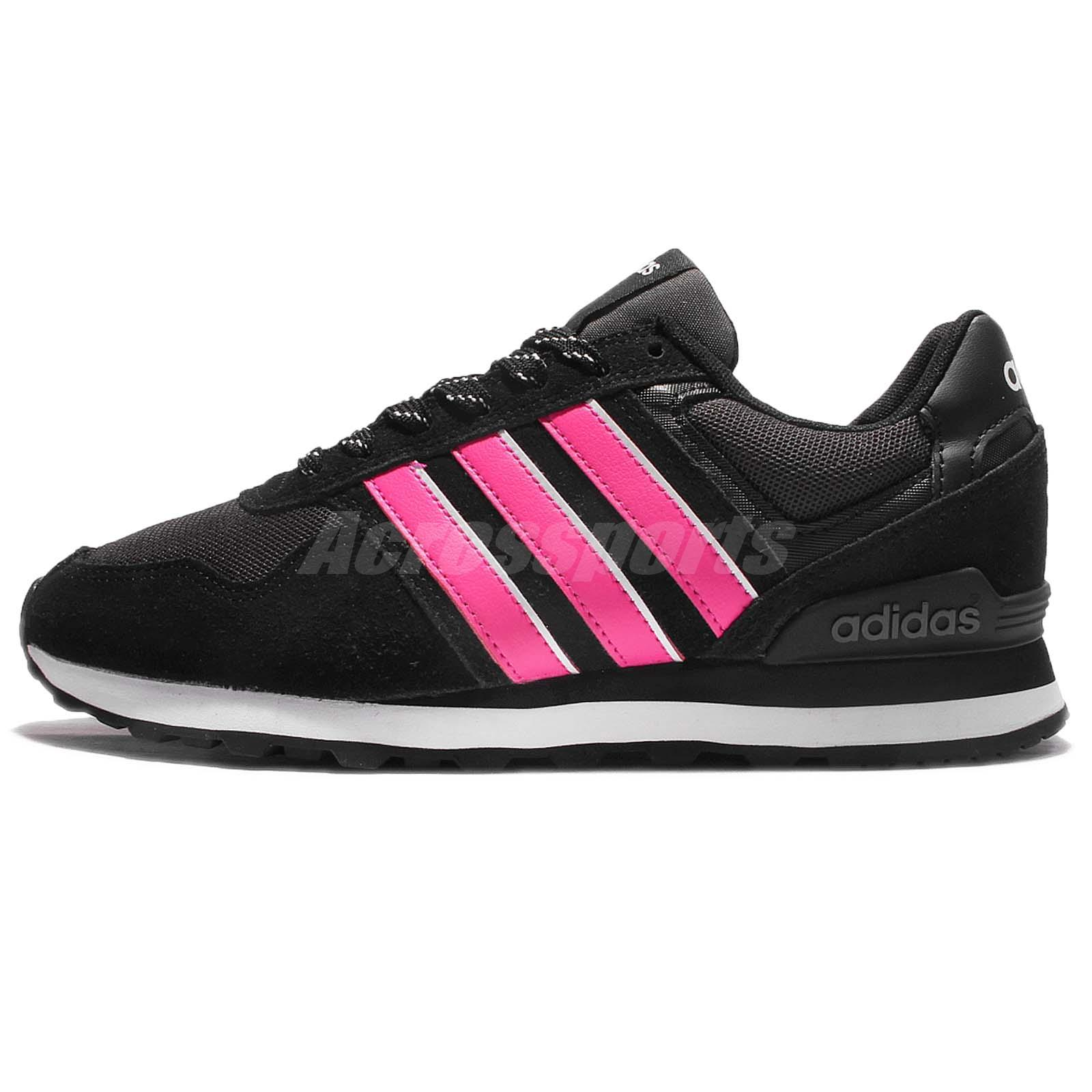 sale retailer b4525 587a6 adidas Neo Label 10K W Black Pink Women Classic Shoes Sneakers Trainers  B74714