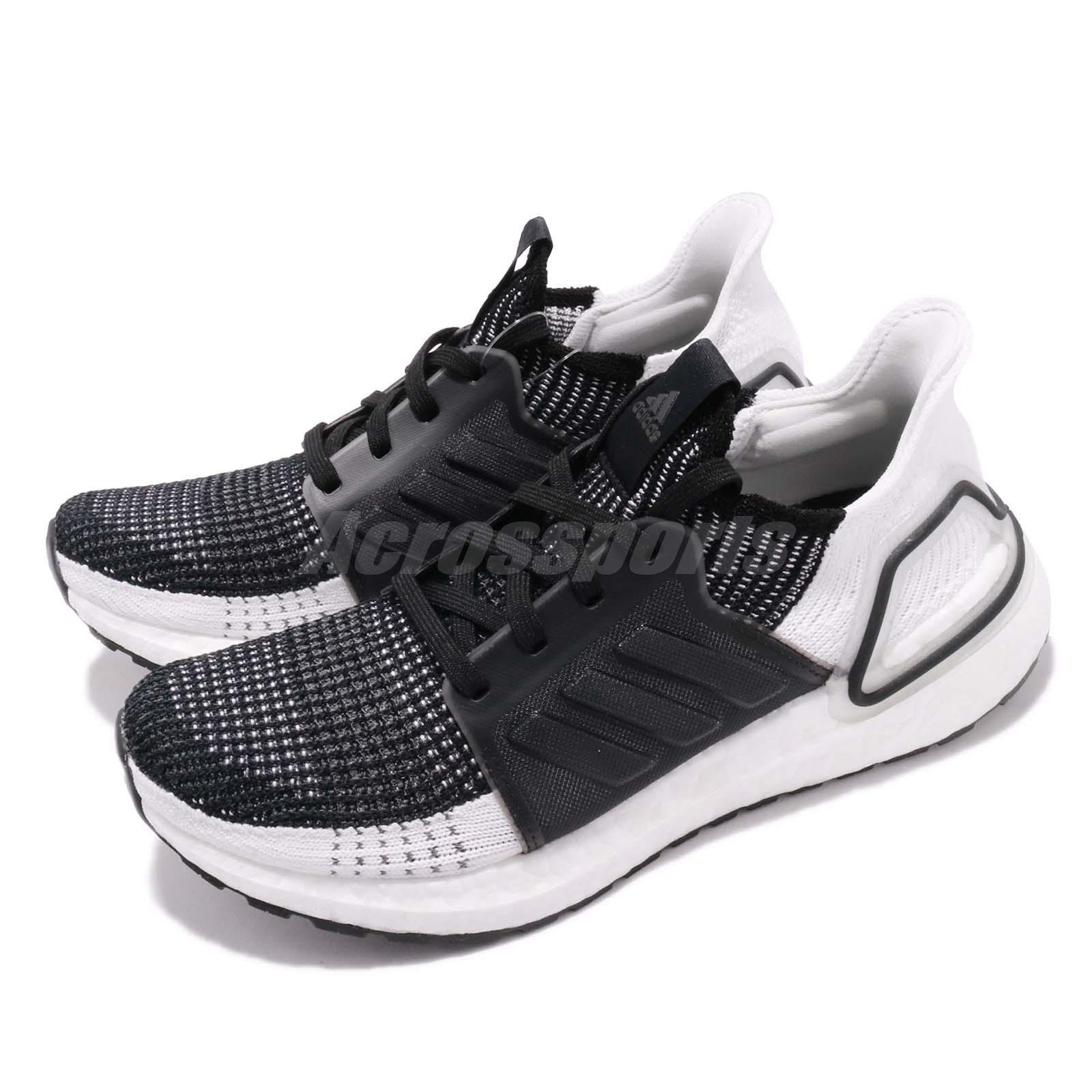 63f83ed9a Details about adidas UltraBoost 19 W Black Grey White Women Running Shoes  Sneakers B75879