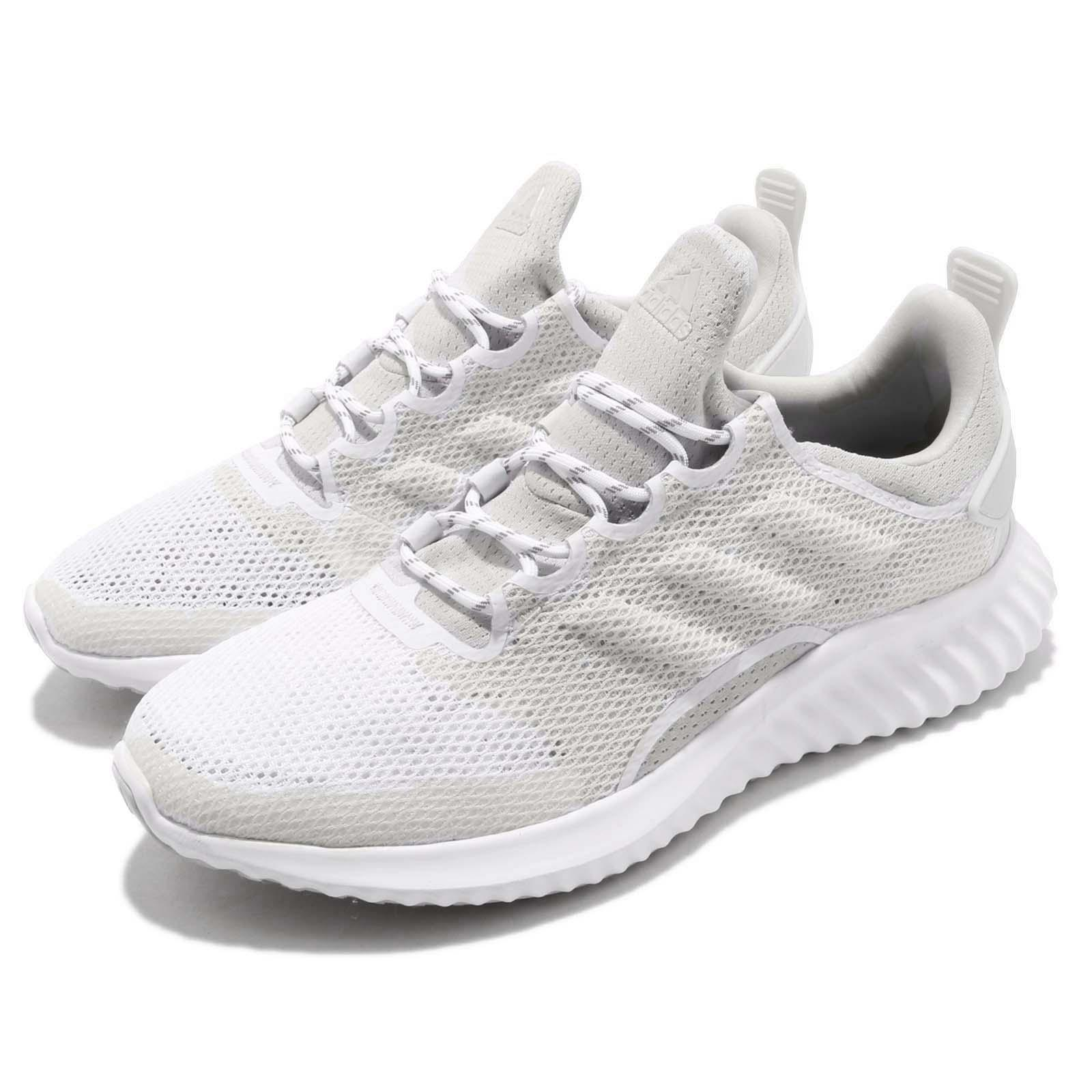 8638f7c17d73 Details about adidas Alphabounce CR CC W White Grey BOUNCE Womens Running  Shoes B76043